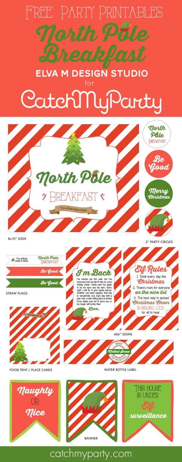 Free Printable Christmas Photo Booth Props   Catch My Party - Free Printable Christmas Party Signs