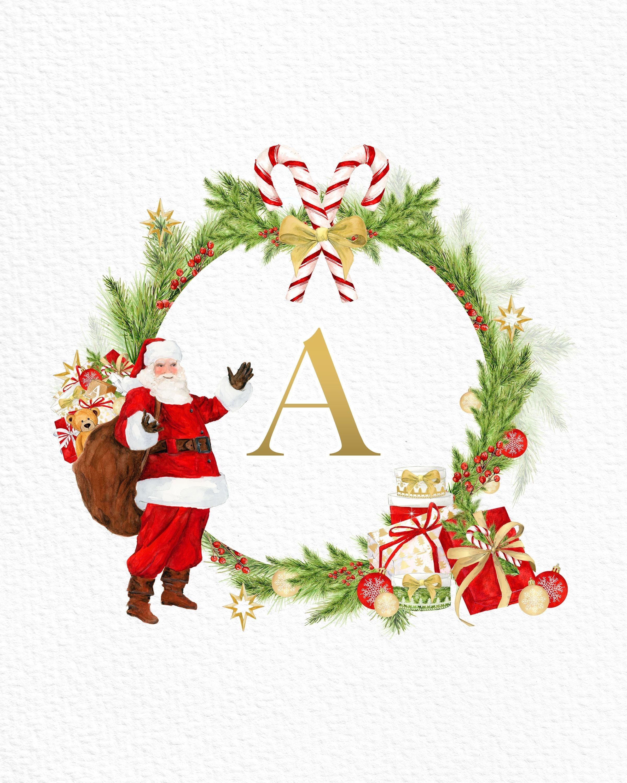 Free Printable Christmas Santa Claus Monograms And More   Christmas - Free Printable Christmas Alphabet