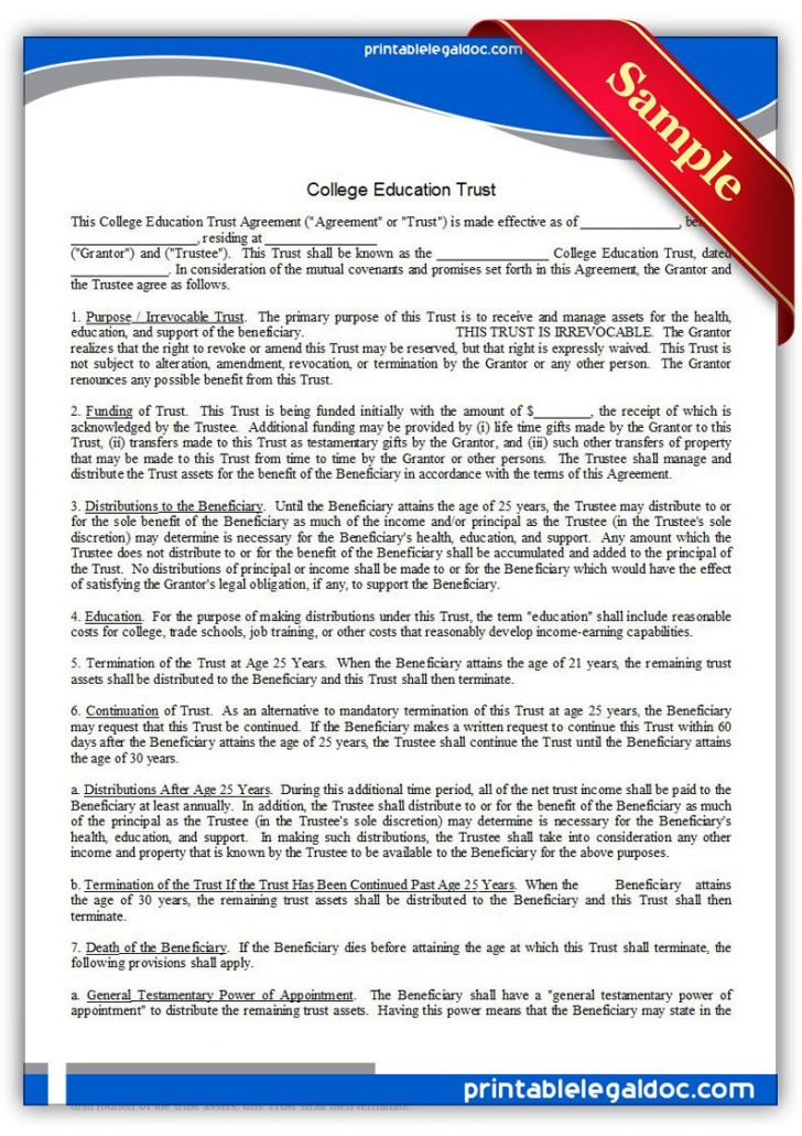 Free Printable College Degrees