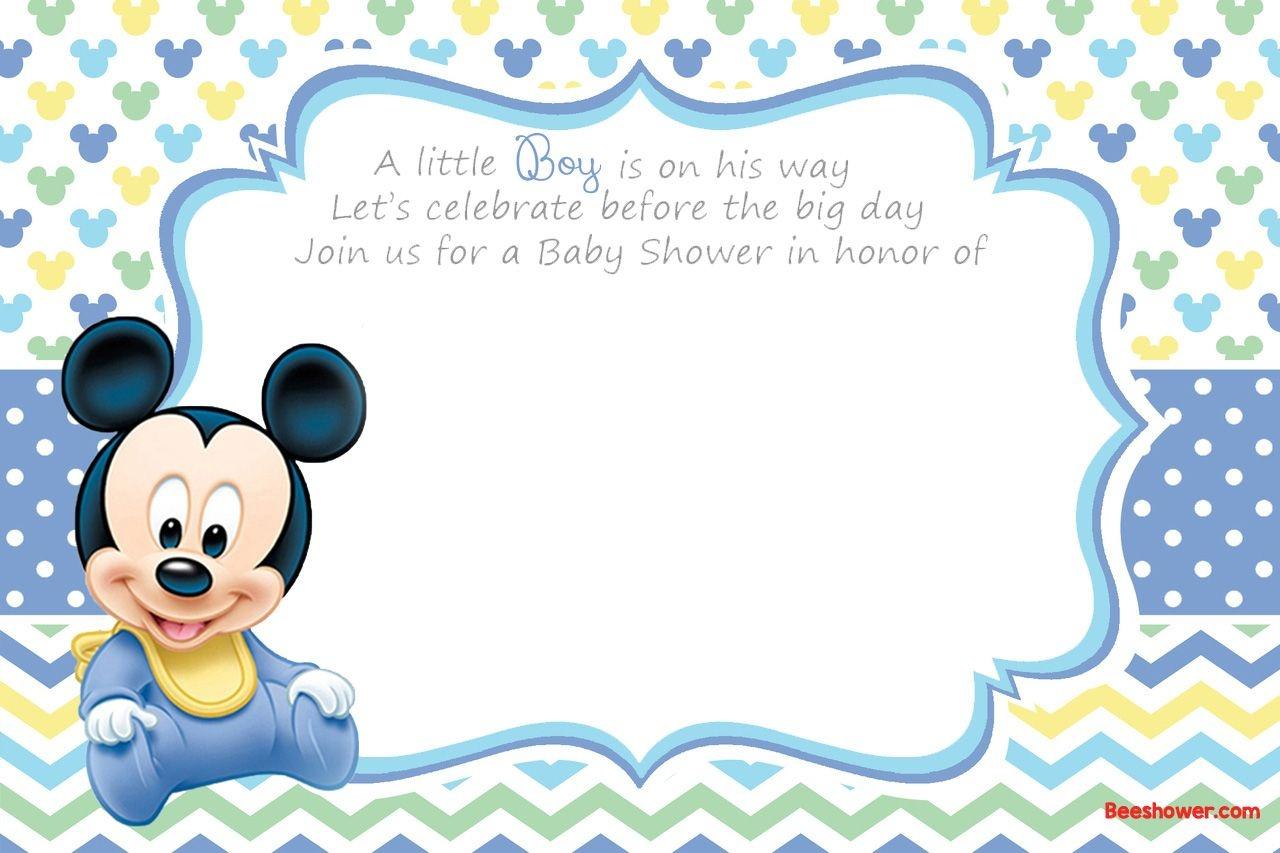 Free Printable Disney Baby Shower Invitations | Baby Shower | Free - Free Baby Boy Shower Invitations Printable