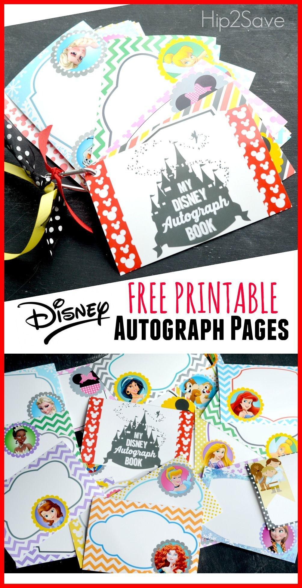 Free Printable Disney Character Autograph Pages (Perfect For - Free Printable Autograph Book For Kids
