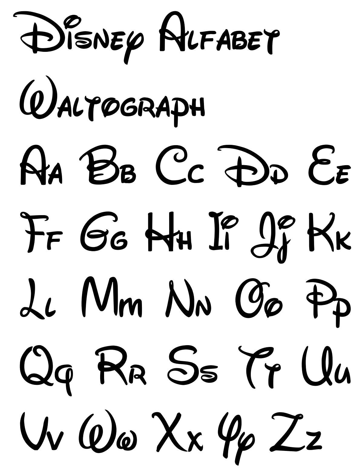 Free Printable Disney Letter Stencils | Disney/dreamworks In 2019 - Free Printable Calligraphy Letter Stencils