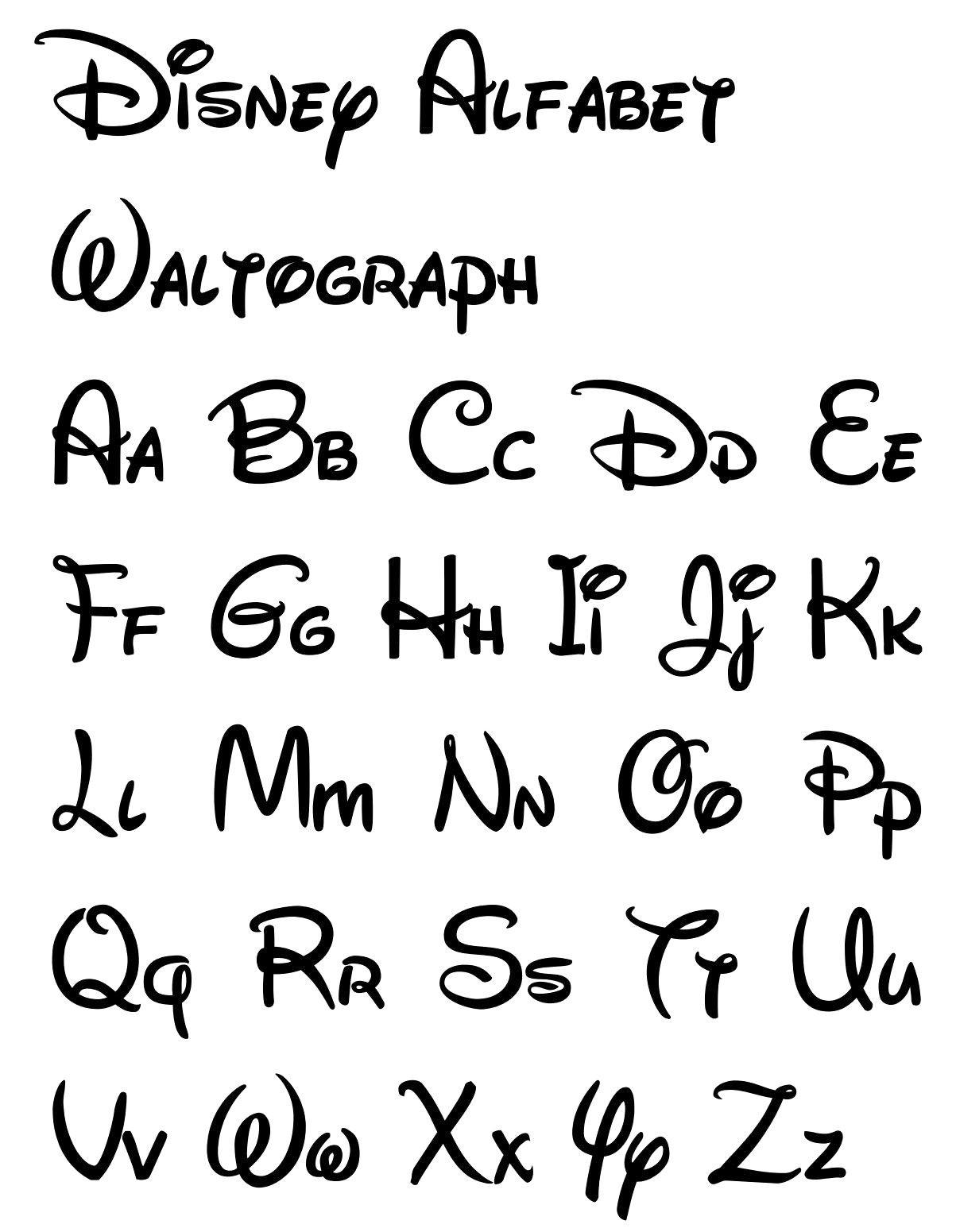 Free Printable Disney Letter Stencils   Disney In 2019   Disney - Free Printable Disney Font Stencils