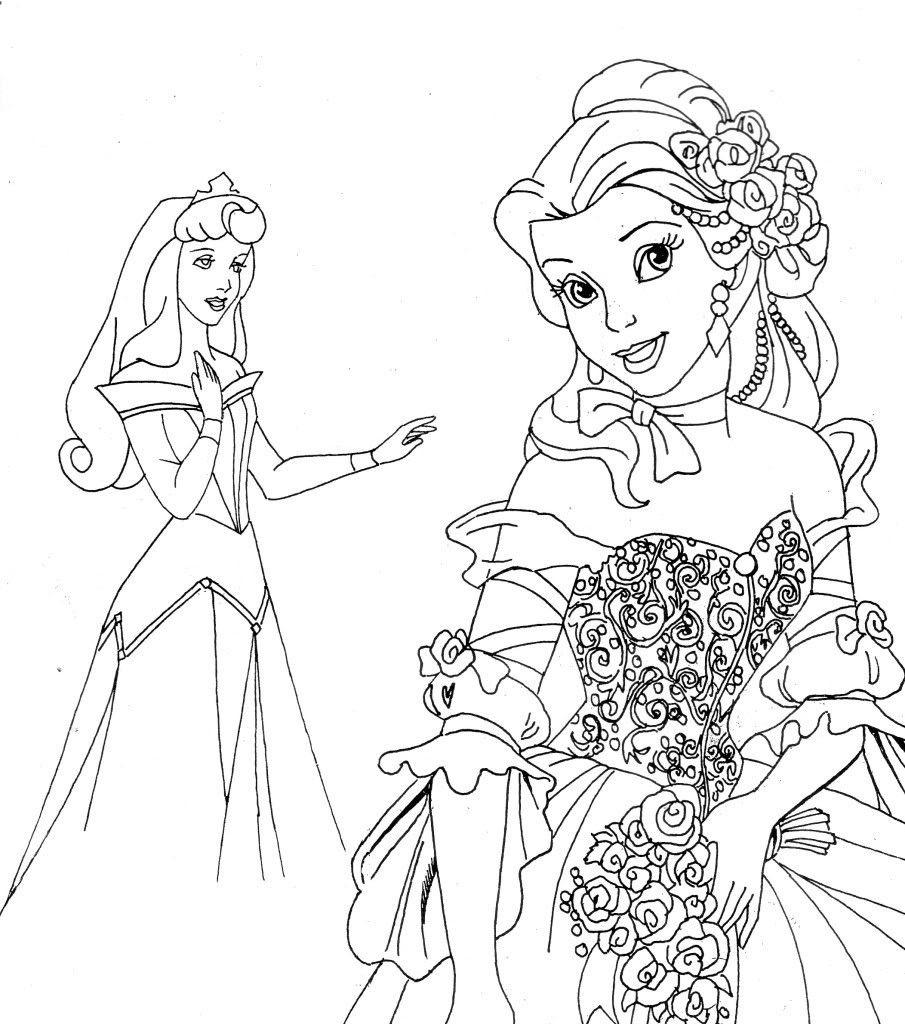 Free Printable Disney Princess Coloring Pages For Kids   Disney - Free Printable Princess Coloring Pages