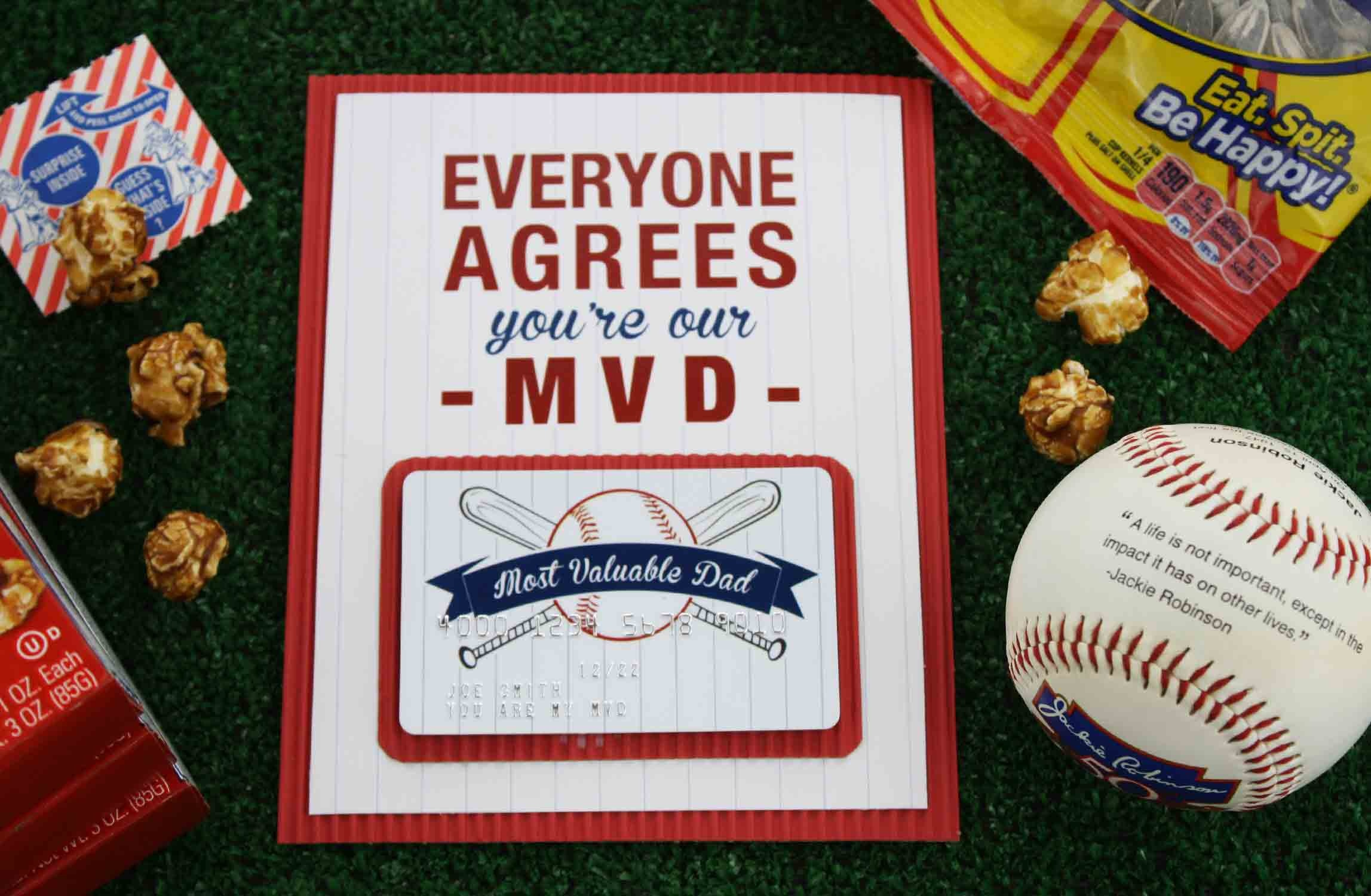 """Free Printable} Father's Day """"most Valuable Dad"""" 