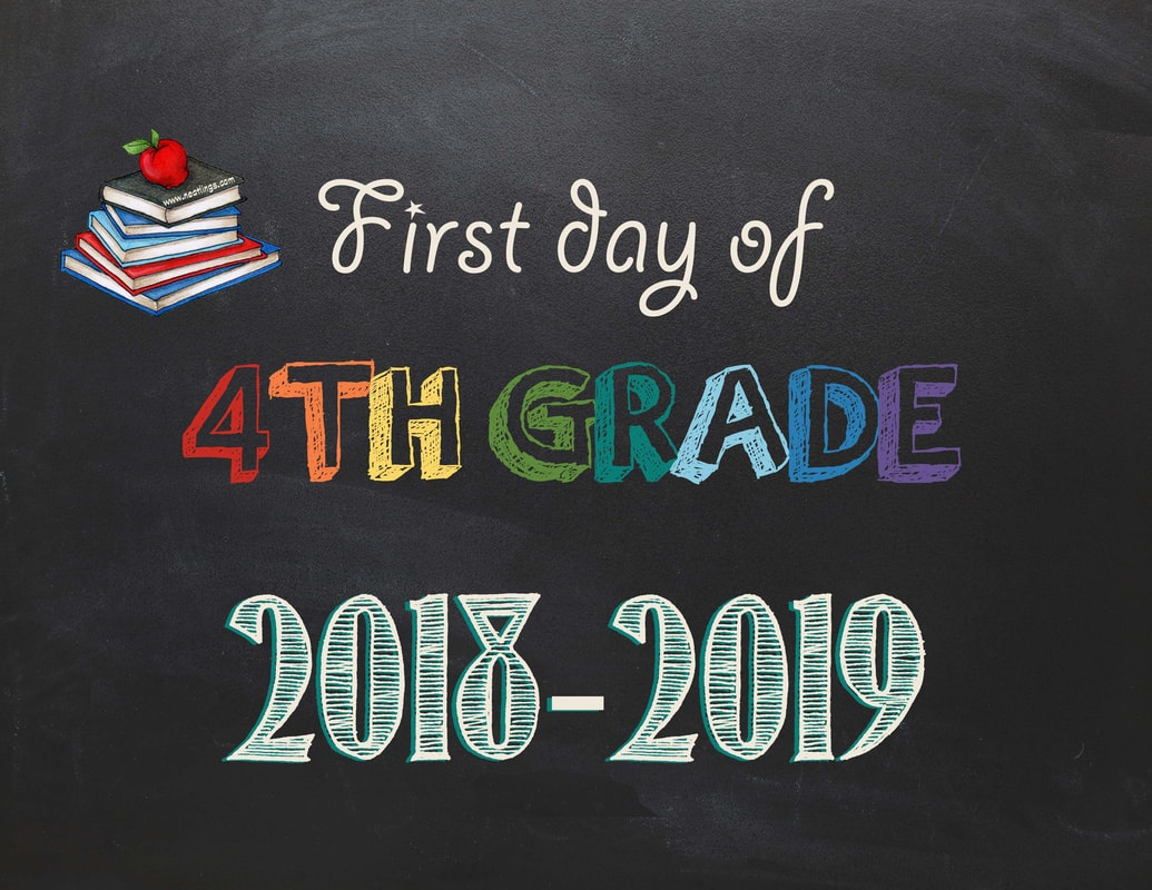 Free Printable First & Last Day Of School Signs 2018-2019 - Neatlings - First Day Of Fourth Grade Free Printable