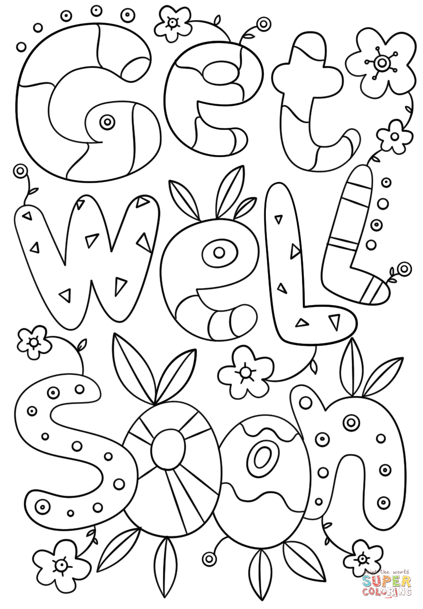 Free Printable Get Well Cards To Color 10 X Soon Coloring Pages 3 - Free Printable Get Well Soon Cards