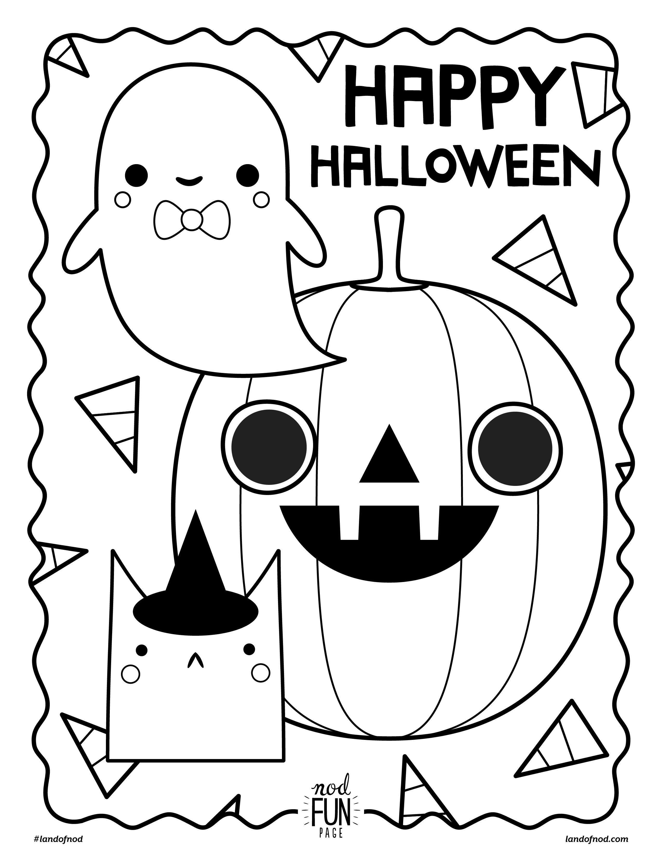 Free Printable Halloween Coloring Page   Preschool Halloween - Free Printable Halloween Coloring Pages