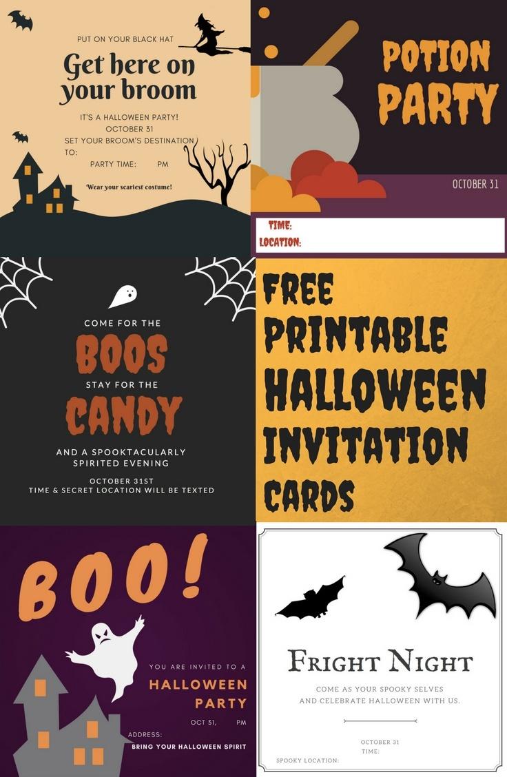 Free Printable Halloween Invitation Cards — A Family Blog - Free Printable Halloween Invitations