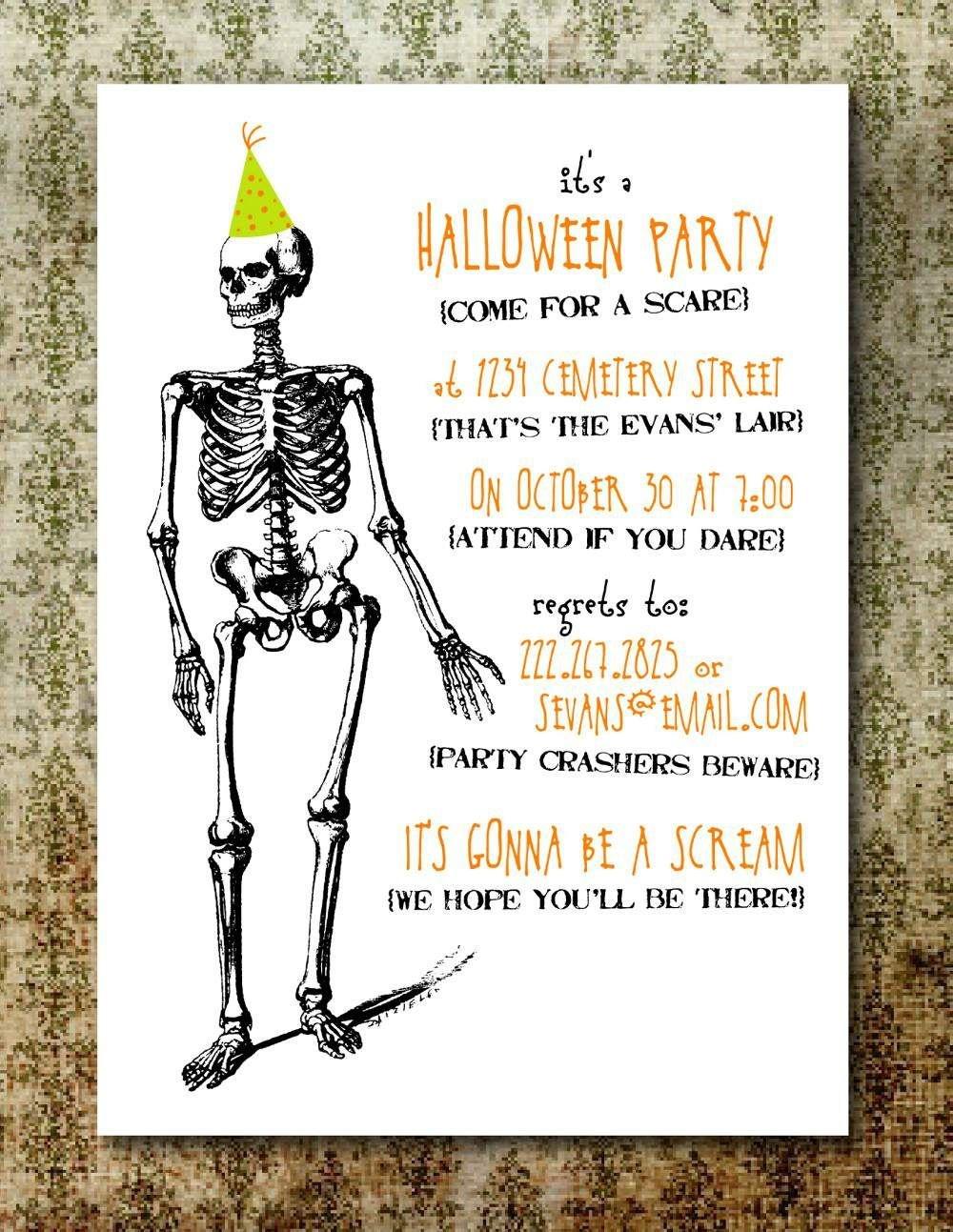 Free Printable Halloween Invitation Templates   Free Printable - Free Printable Halloween Invitations