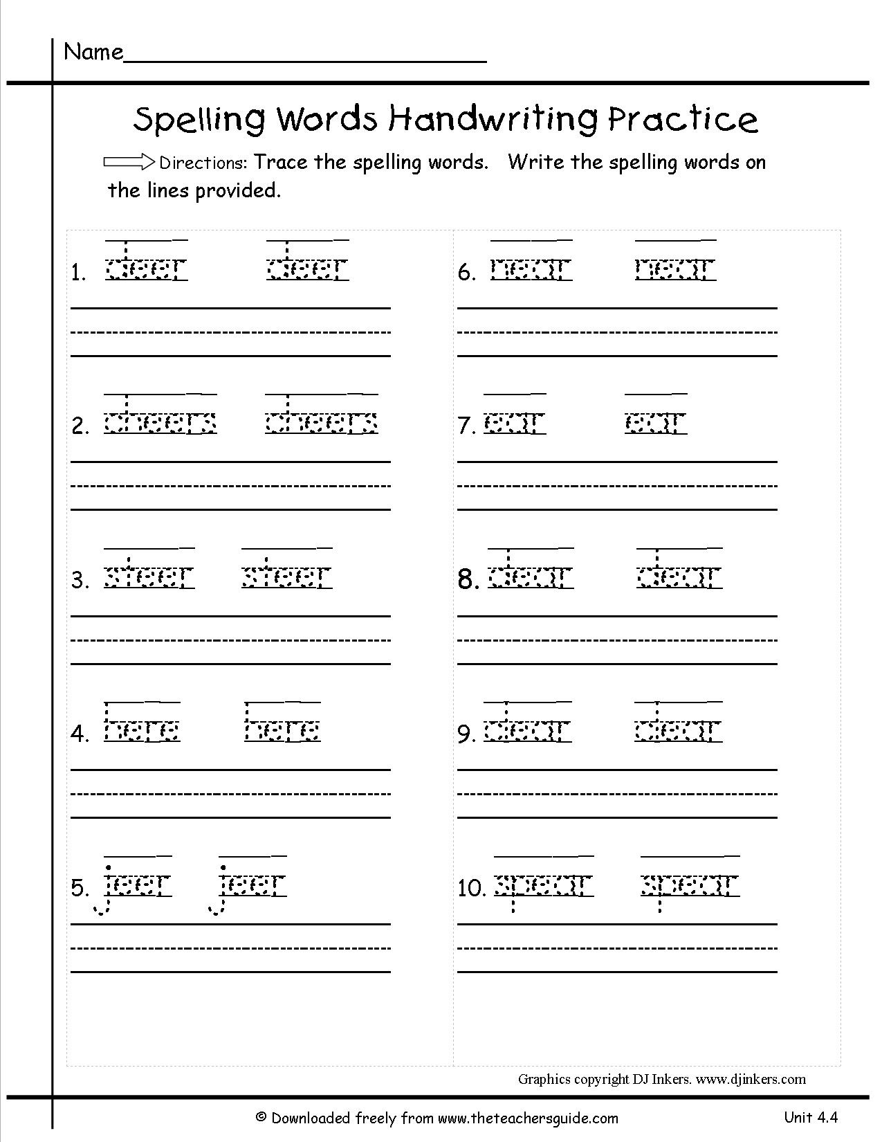 Free Printable Handwriting Sheets For First Grade   Homeshealth - Free Printable Handwriting Worksheets
