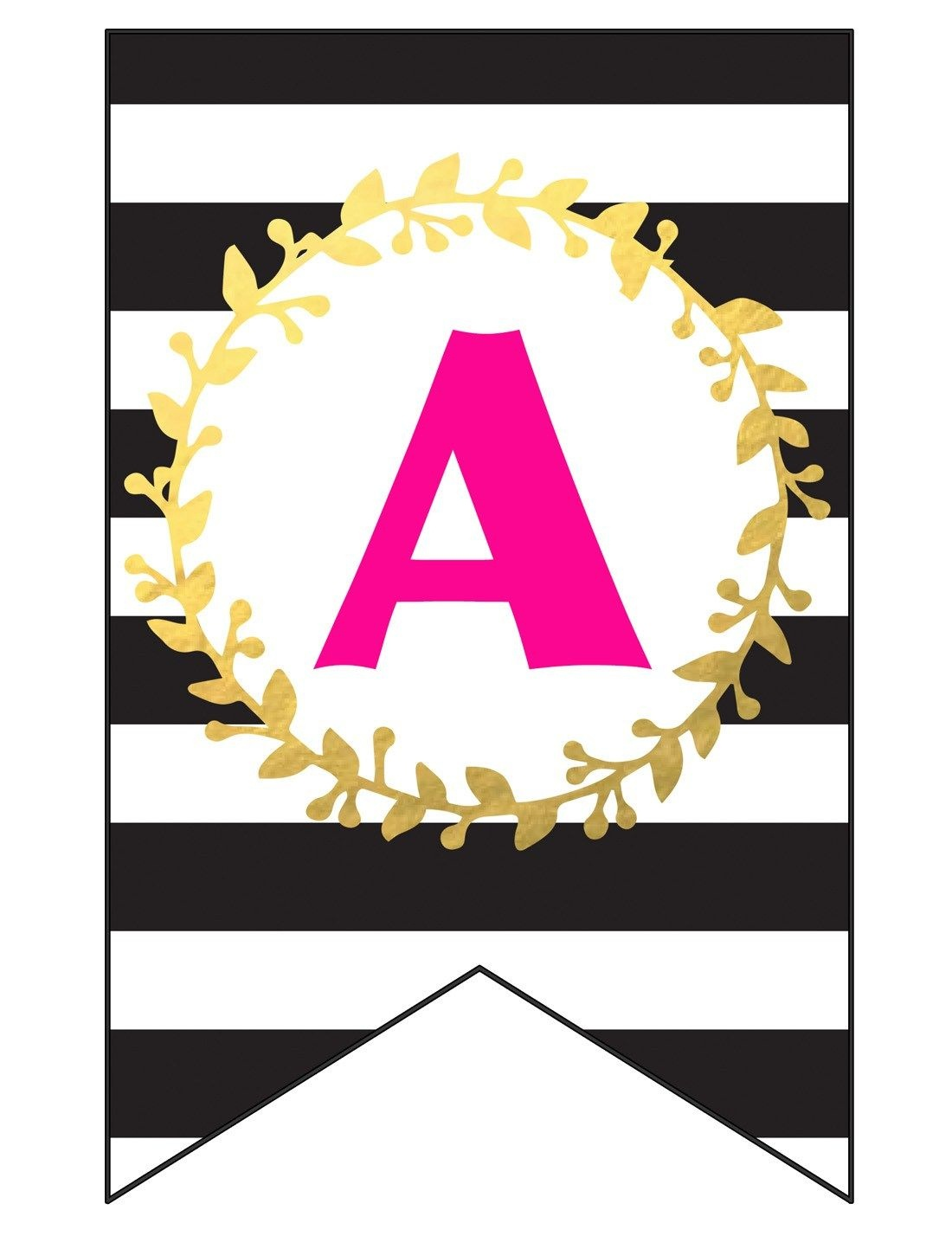 Free Printable Happy Birthday Banner And Alphabet | Black White - Free Happy Birthday Printable Letters