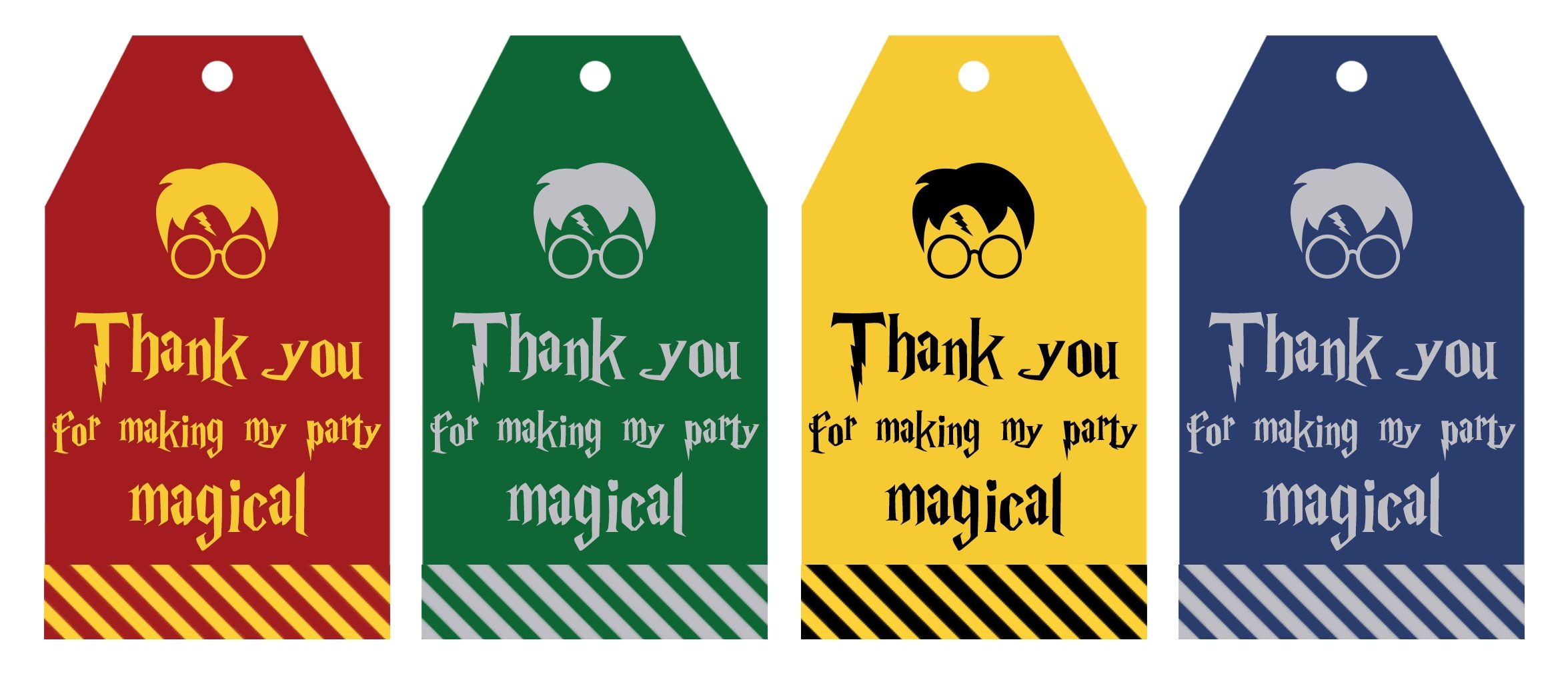Free Printable Harry Potter Party Favor Gift Tags - Lovely Planner - Free Printable Goodie Bag Tags
