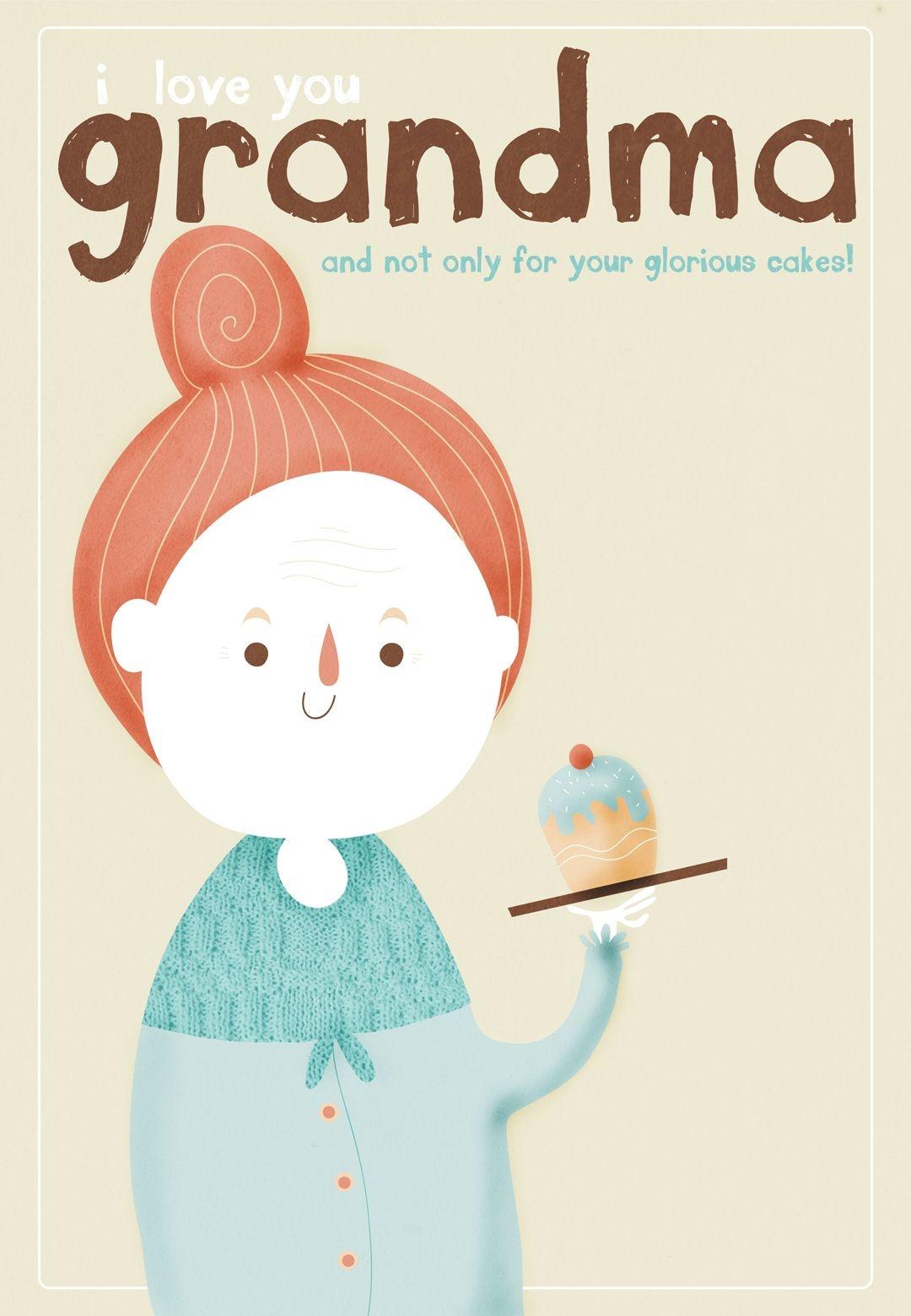 Free Printable I Love You Grandma Greeting Card   Grandparents Day - Grandparents Day Cards Printable Free
