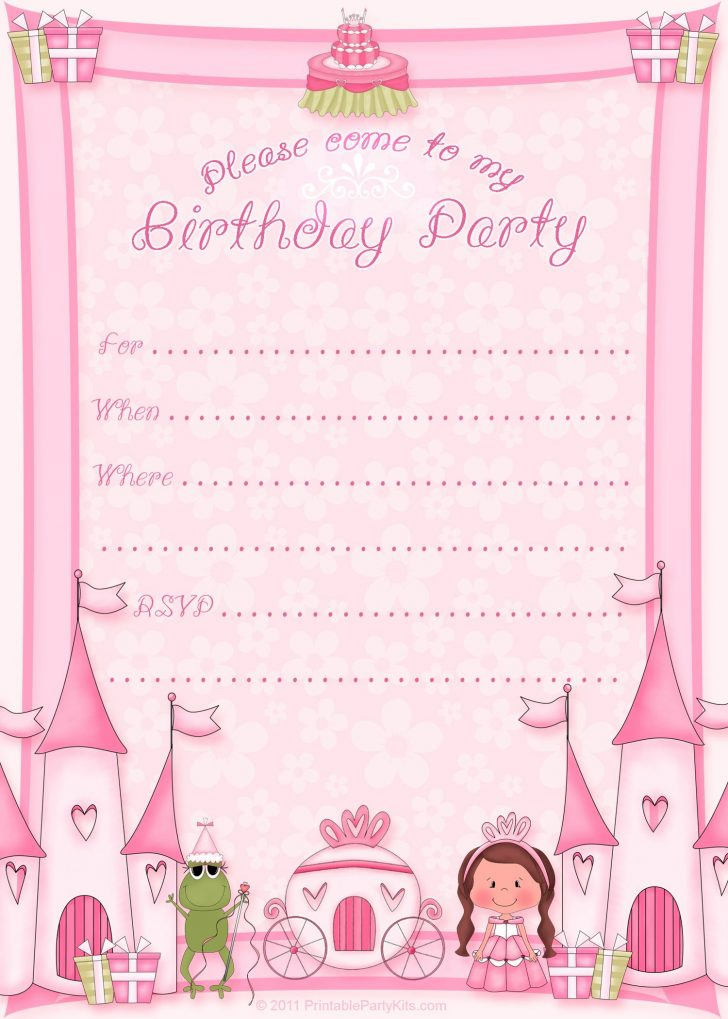 Free Printable Princess Invitations