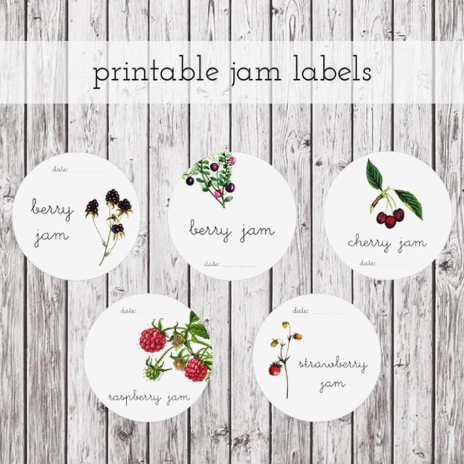 Free Printable Jam Labels Is | Label Maker Ideas Information - Free Printable Jam Labels
