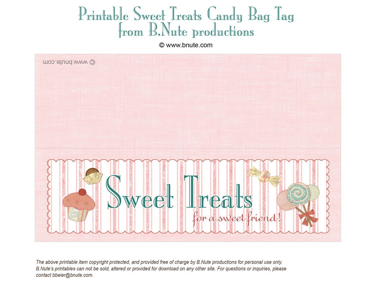Free Printable Lables | Bnute Productions: Free Printable Sweet - Free Printable Goodie Bag Tags