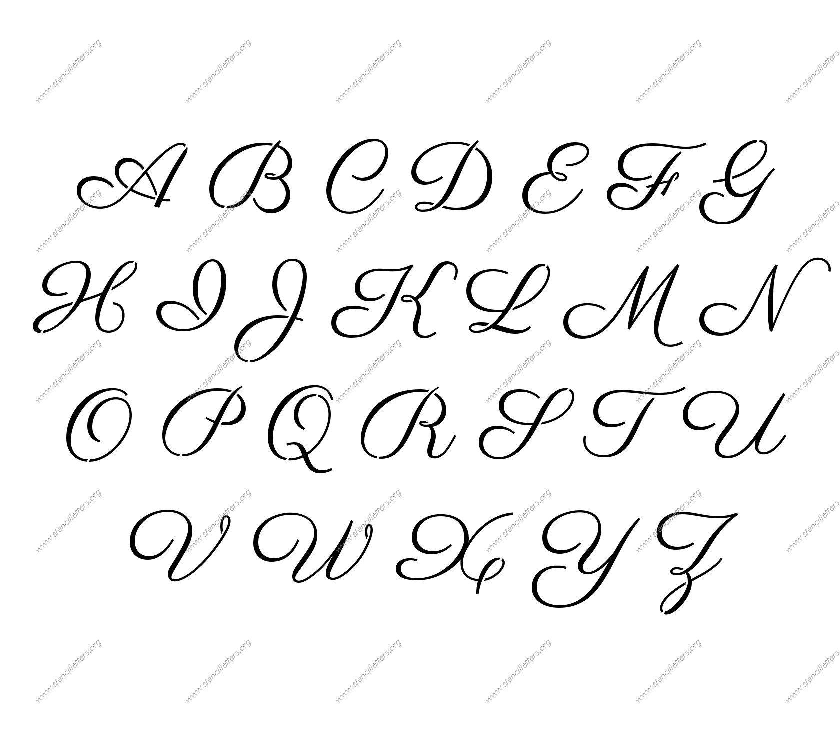 Free Printable Letter Stencils 2 - Crearphpnuke - Free Printable Calligraphy Letter Stencils