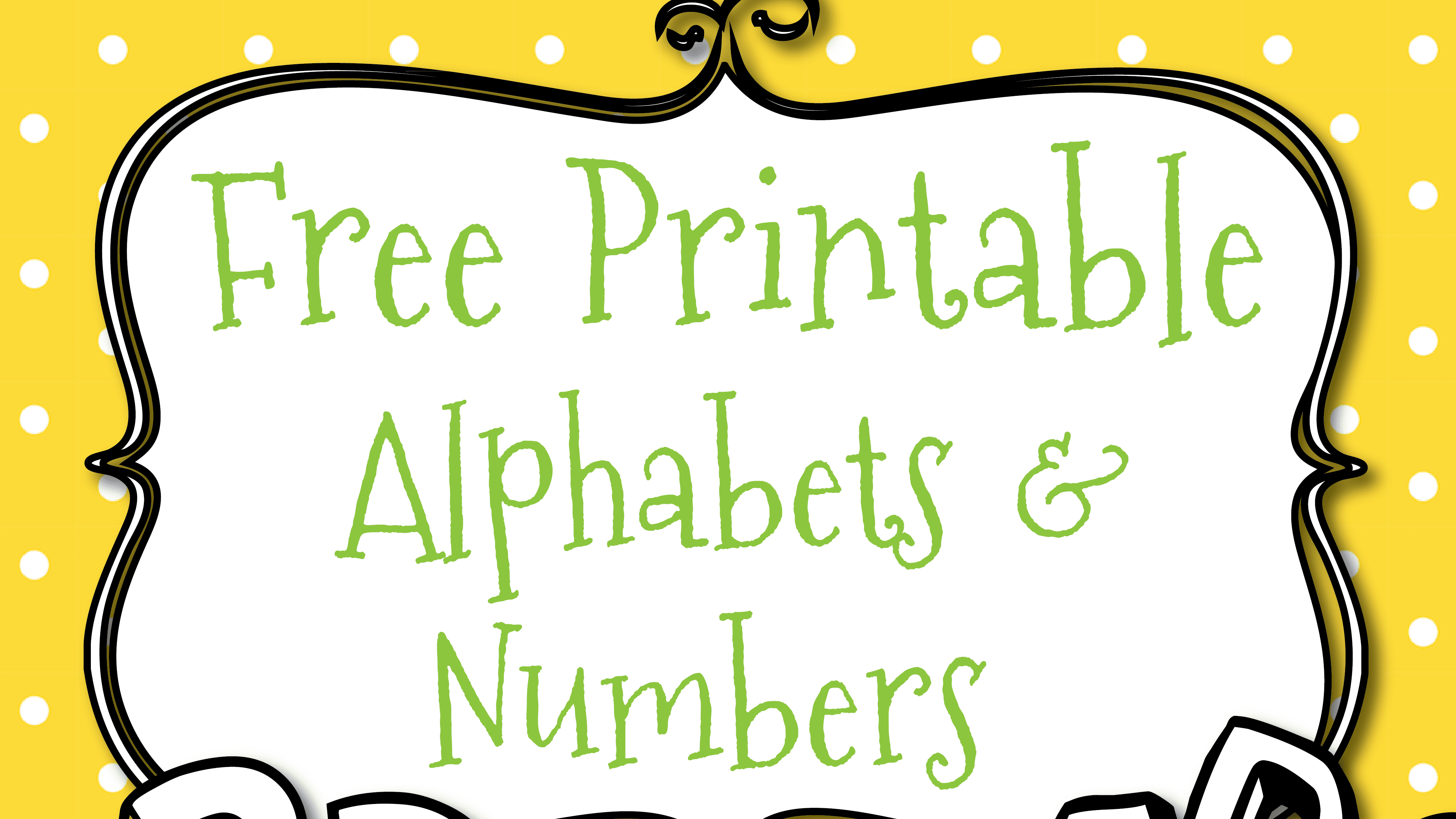 Free Printable Letters And Numbers For Crafts - Printable Alphabet Letters Free Download
