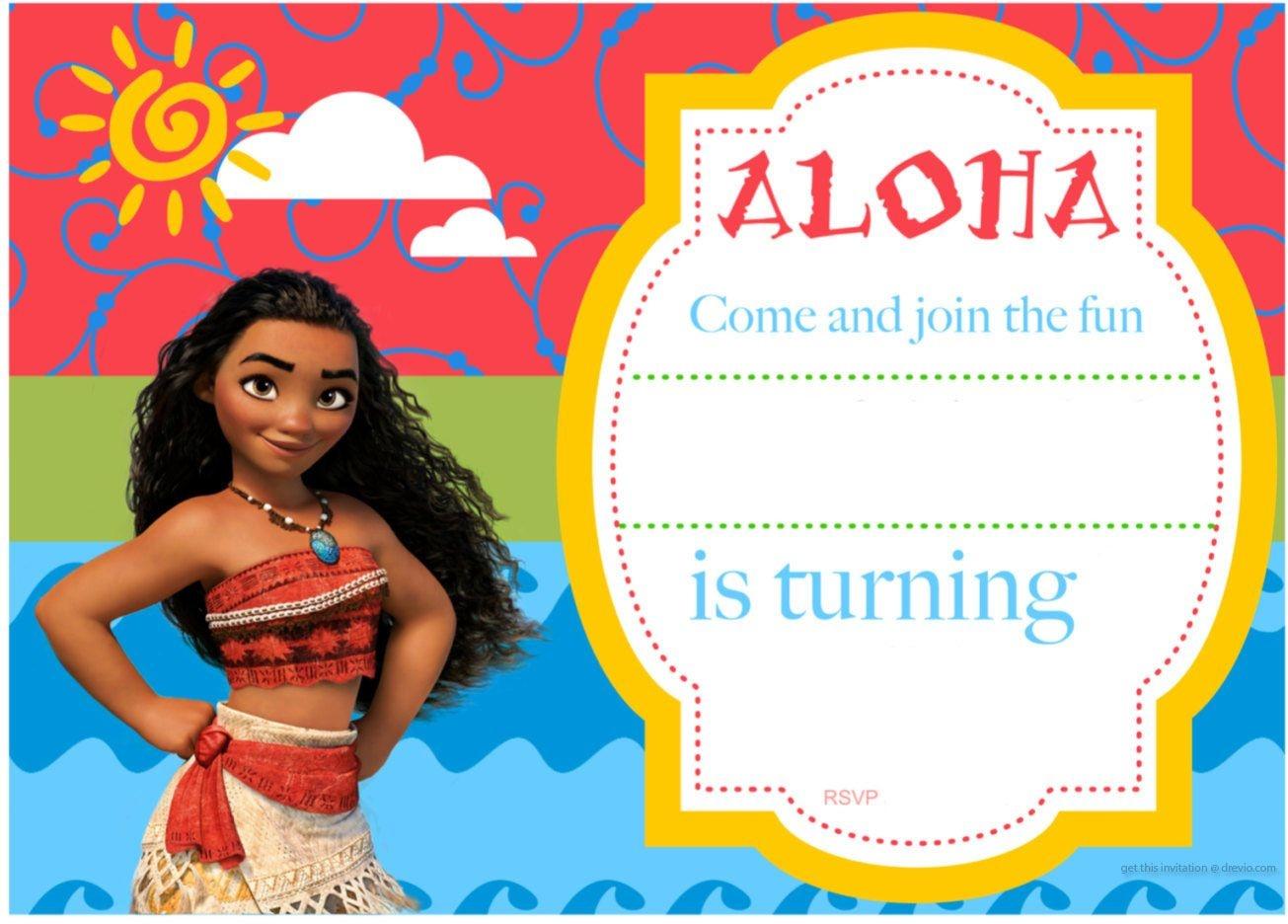 Free Printable Moana Birthday Invitation And Party   Free - Free Moana Printable Invitations