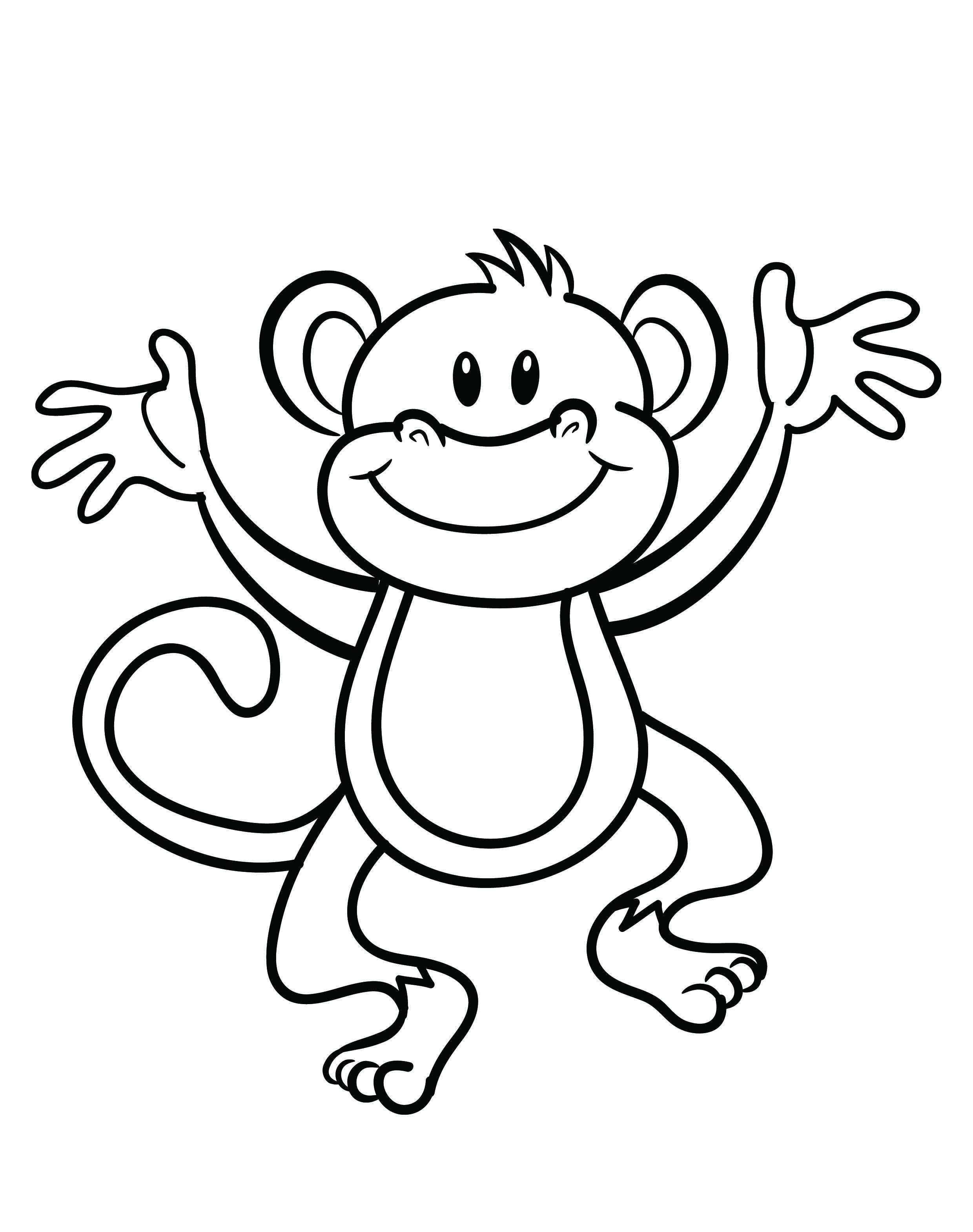 Free Printable Monkey Coloring Page   Cj 1St Birthday   Monkey - Free Printable Monkey Coloring Sheets