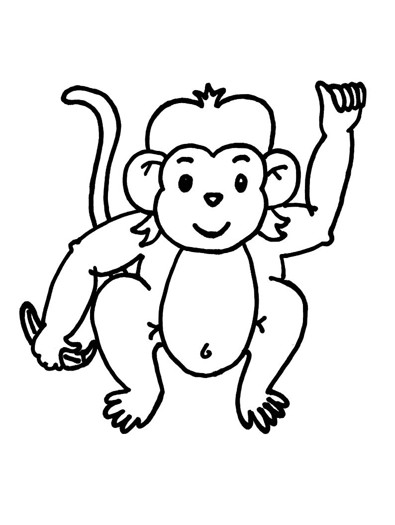 Free Printable Monkey Coloring Pages For Kids - Free Printable Monkey Coloring Sheets