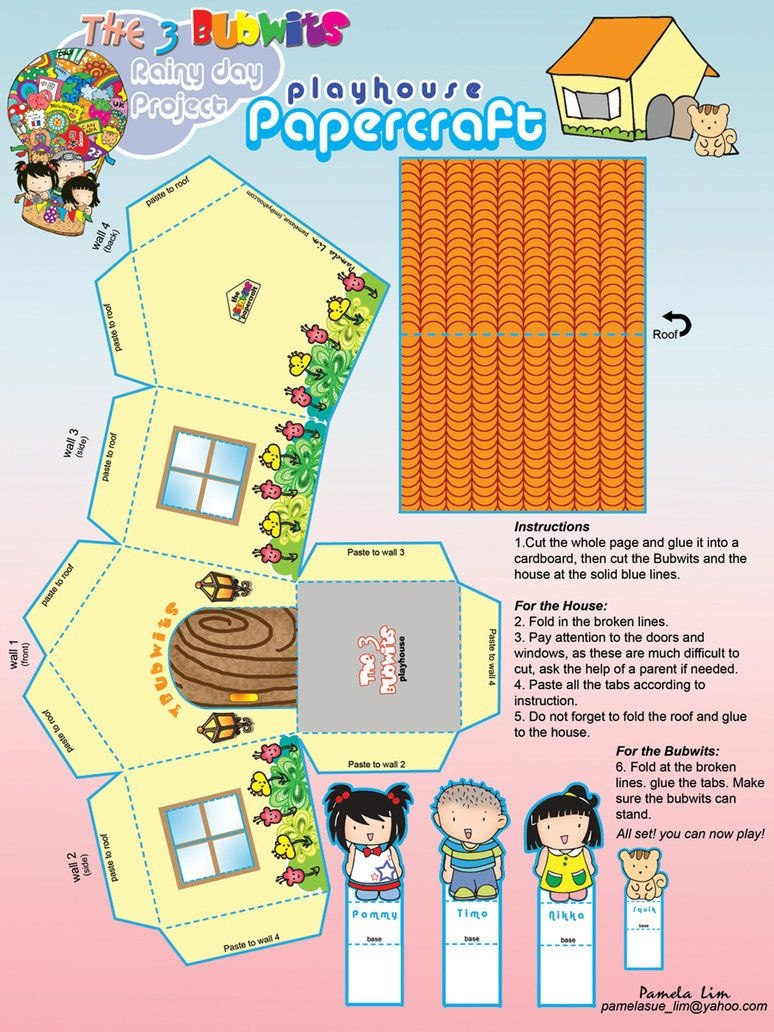Free Printable Papercraft House~Pammylim On Deviantart   Free - Printable Paper Crafts Free