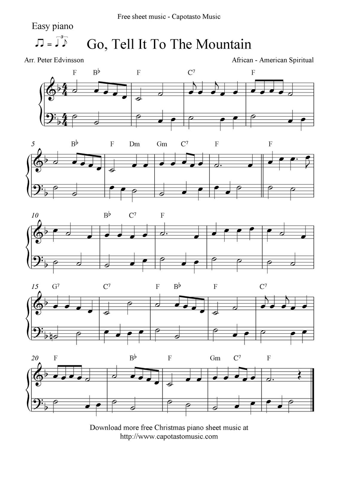 Free Printable Piano Sheet Music   Free Sheet Music Scores: Easy - Free Printable Christmas Sheet Music For Piano