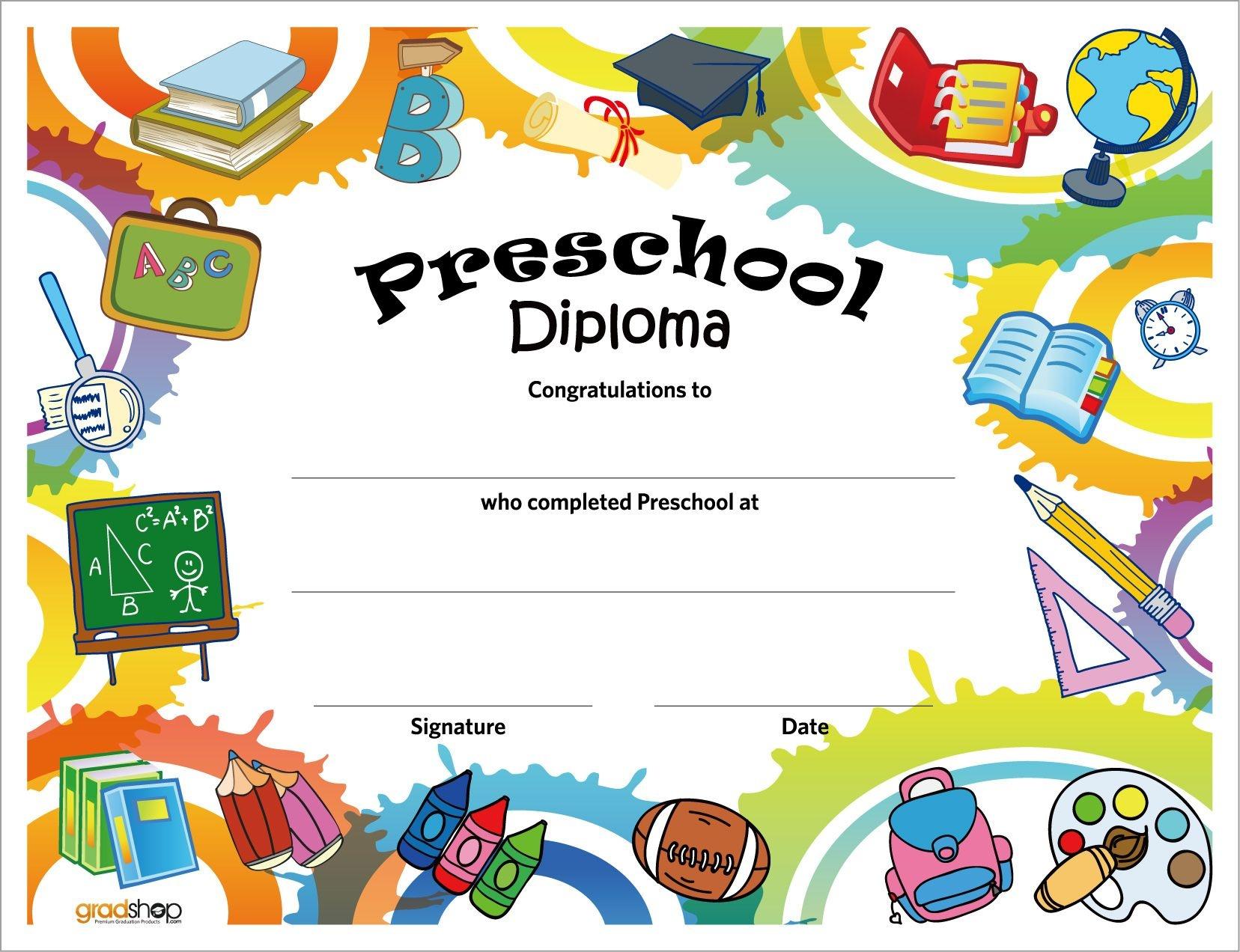 Free Printable Preschool Diplomas | Preschool Classroom - Preschool Graduation Diploma Free Printable