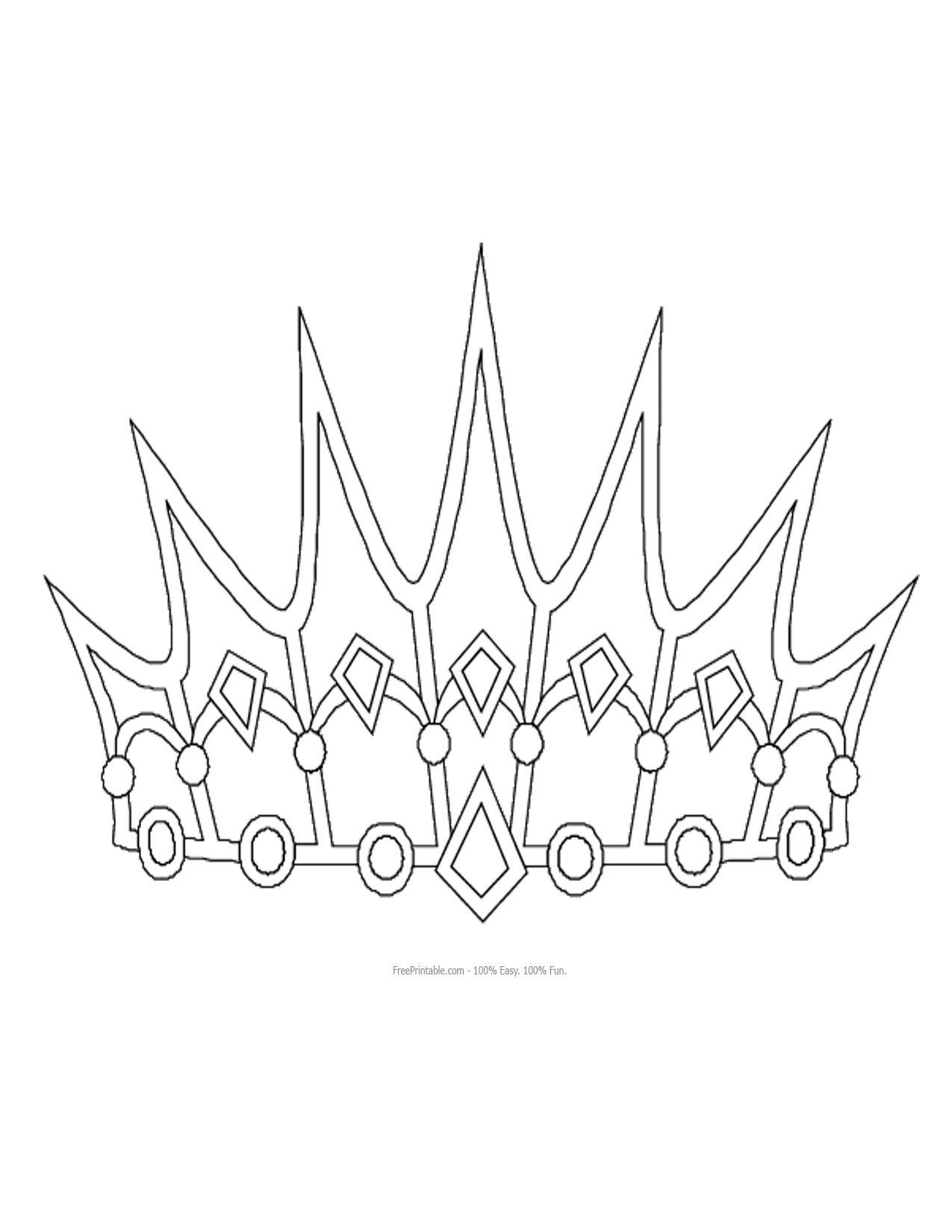 Free Printable Princess Crown Shapes   Print - Princess Crown   3D - Free Printable Crown