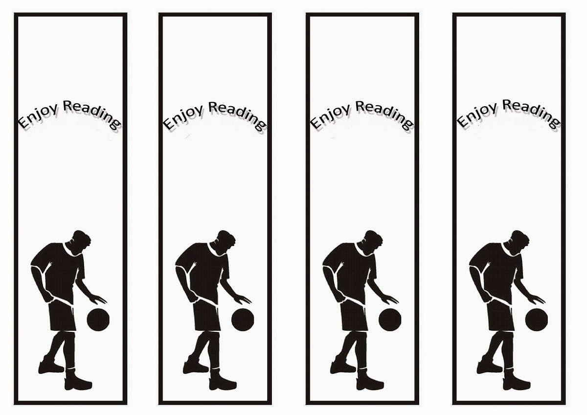 Free Printable Reading Bookmarks Black And White   Activity Shelter - Free Printable Sports Bookmarks