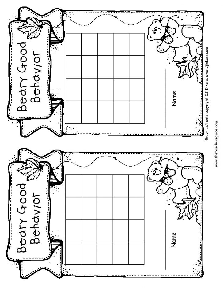 Free Printable Incentive Charts For School