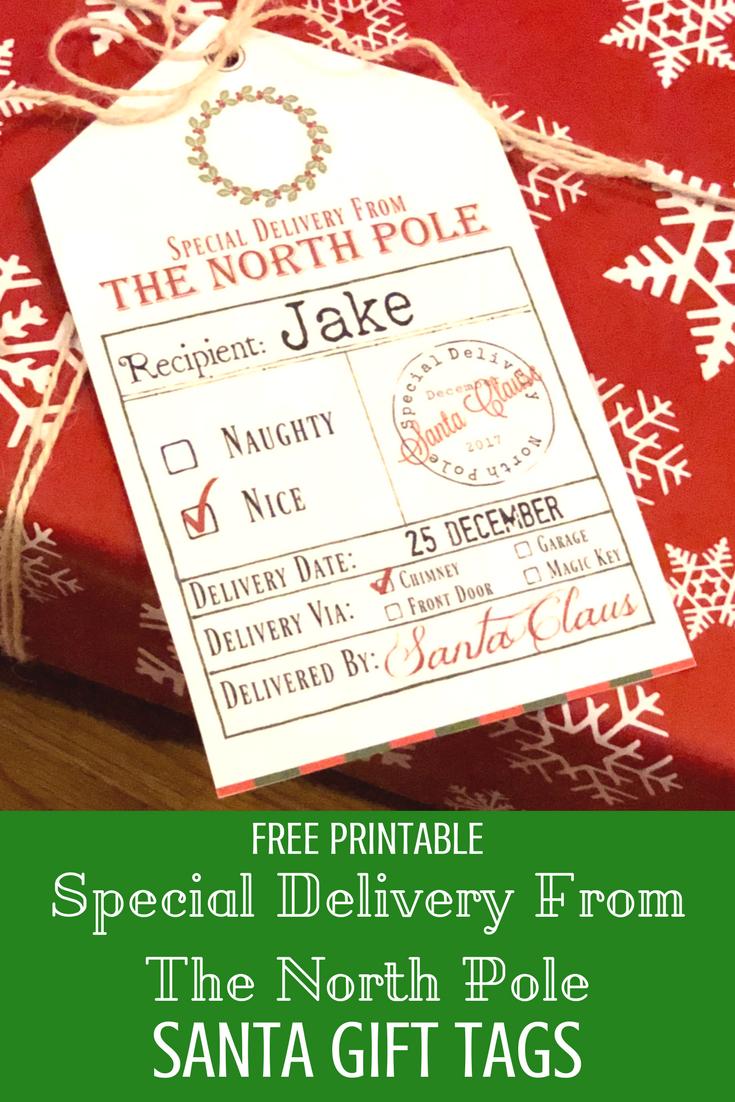 Free Printable Santa Gift Tags   Kids Christmas   Christmas Gift - Free Printable Santa Gift Tags