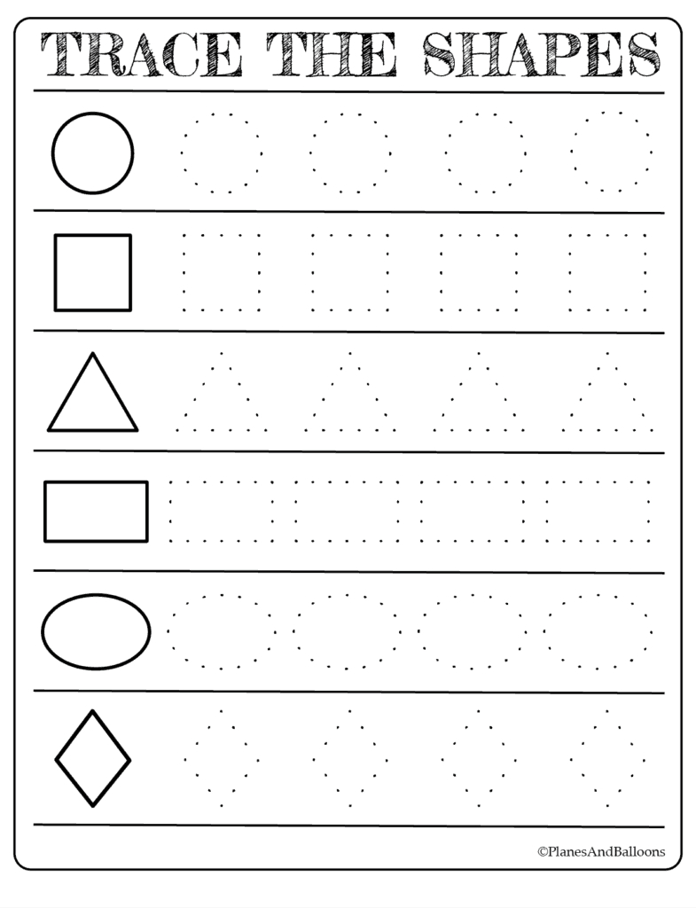 Free Printable Shapes Worksheets For Toddlers And Preschoolers - Free Printable Preschool Worksheets