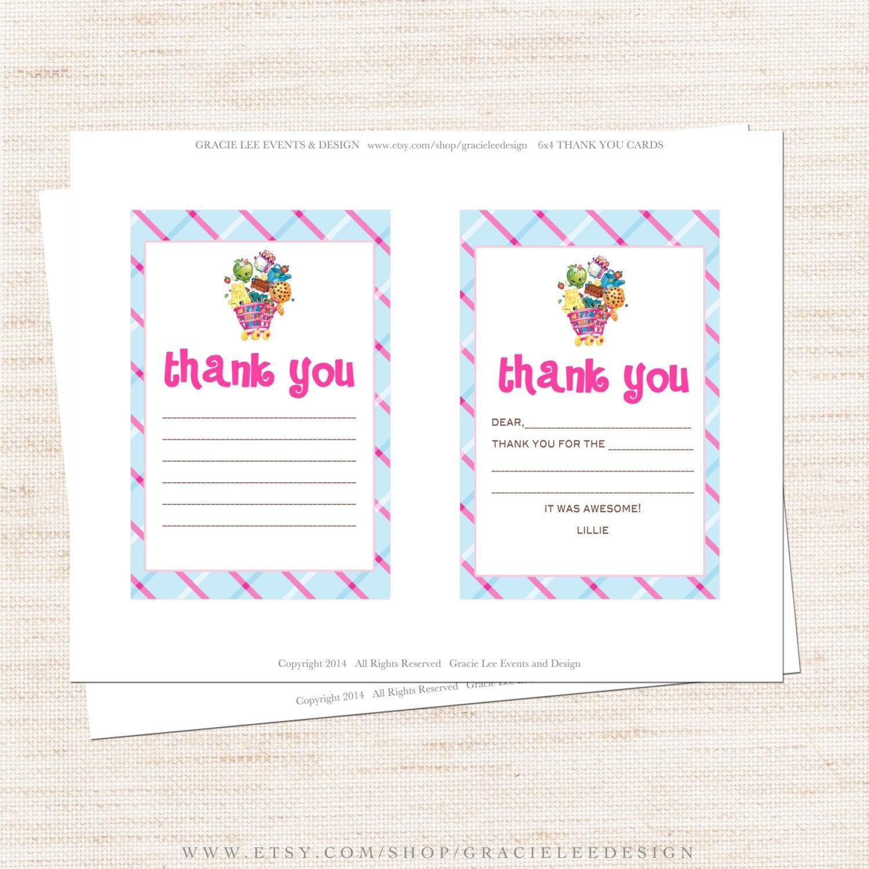 Free Printable Shopkins Thank You Card Halegrafx - Oukas - Free Printable Shopkins Thank You Cards