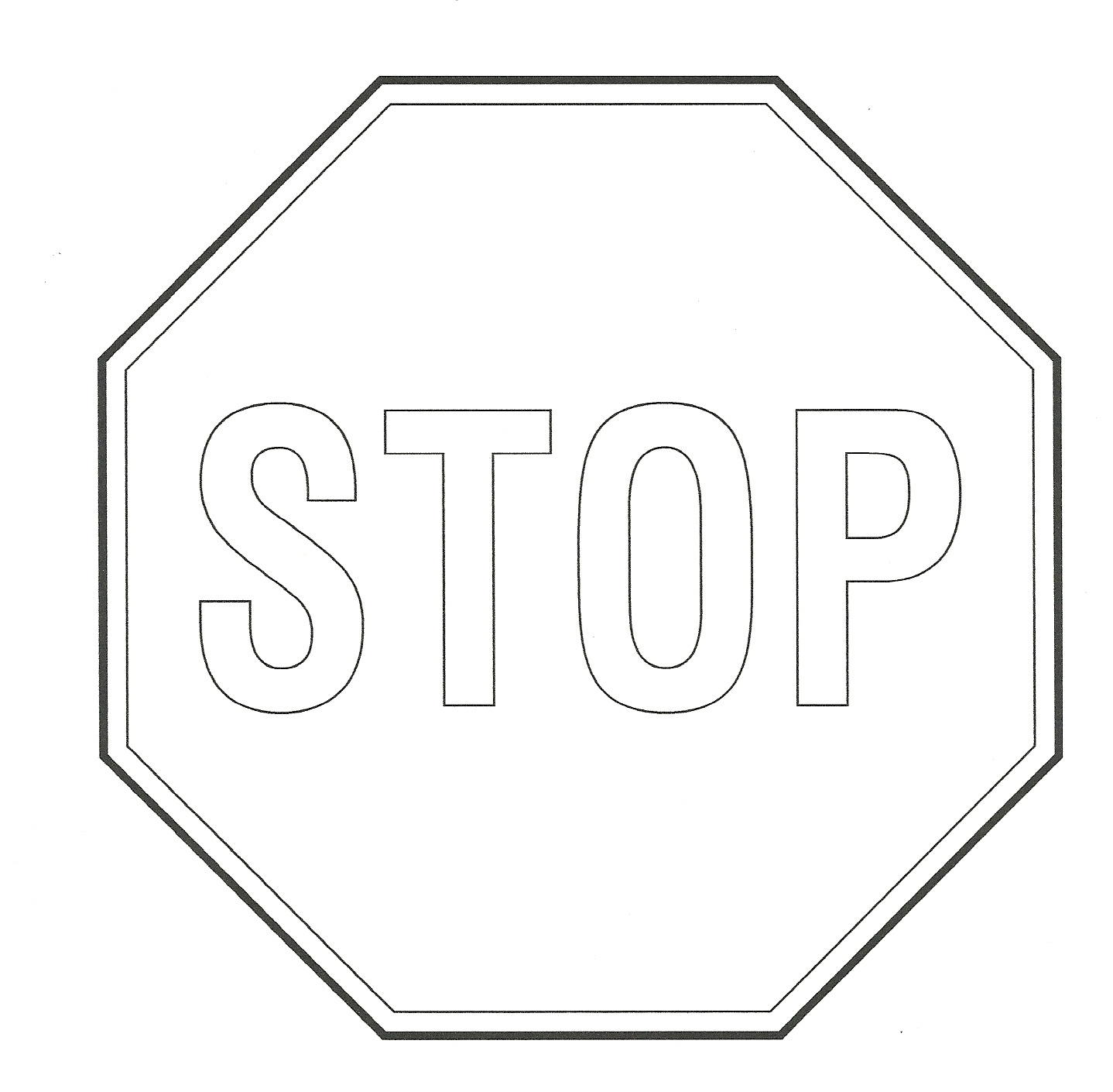 Free Printable Stop Sign Group (65+) - Free Printable Stop Sign To Color