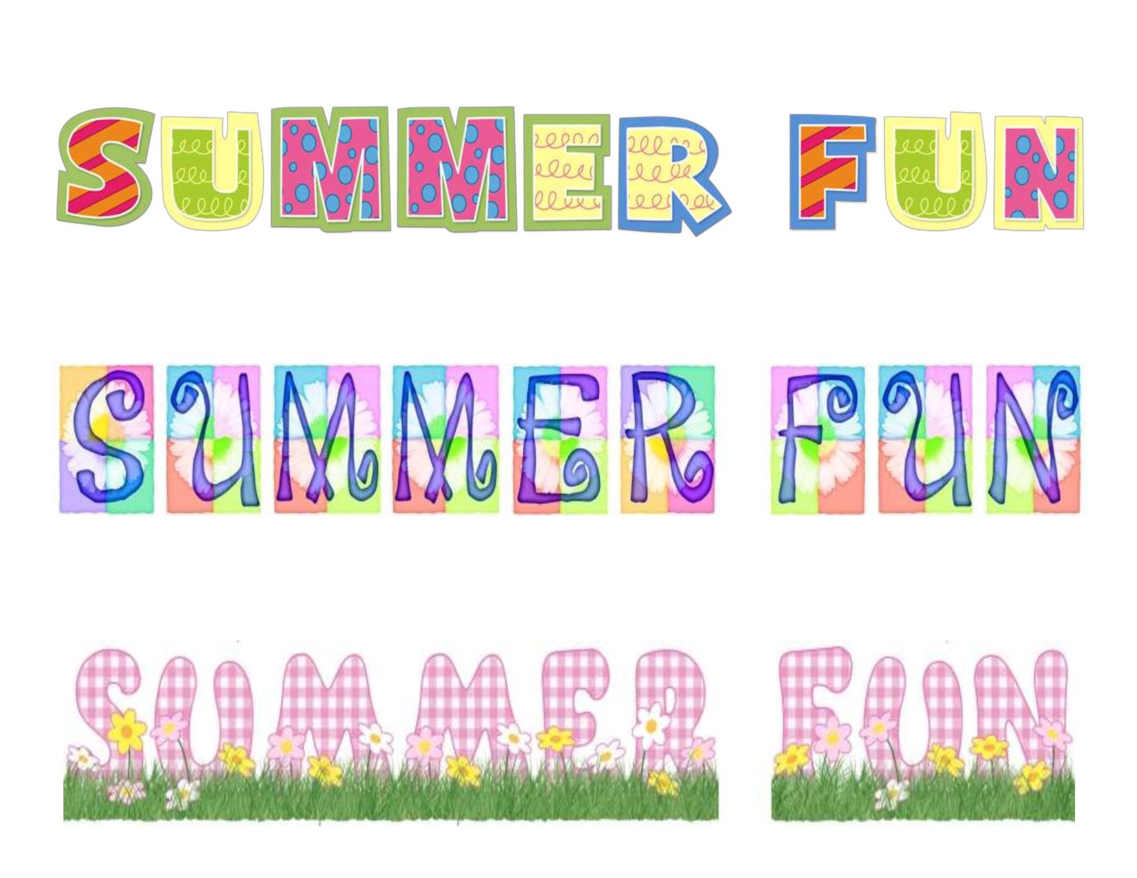 Free Printable Summer Clip Art   Summer Fun Free Scrapbook Printable - Free Printable Summer Clip Art