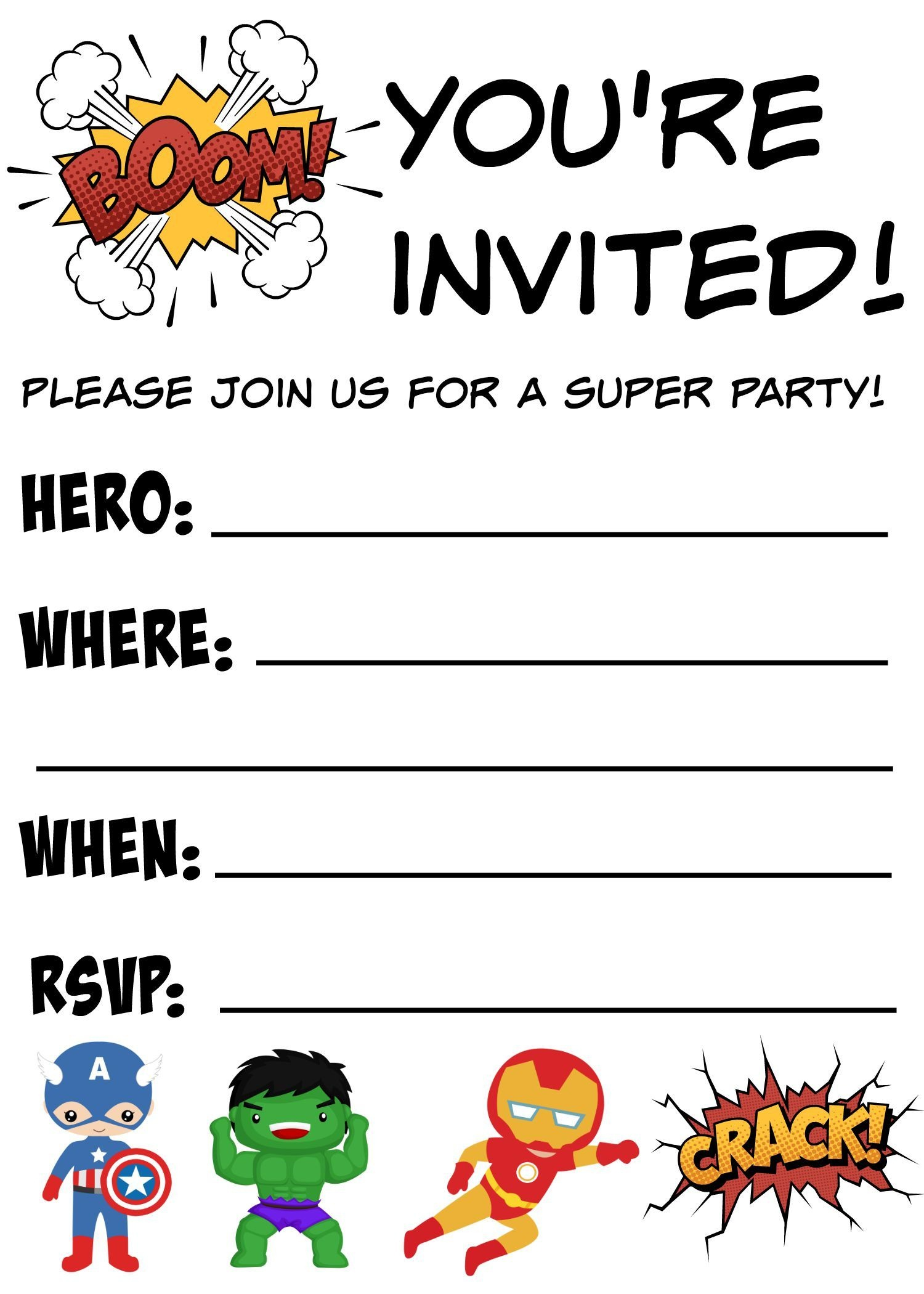 Free Printable Superhero Birthday Invitations | Birthdays - Free Printable Superman Invitations