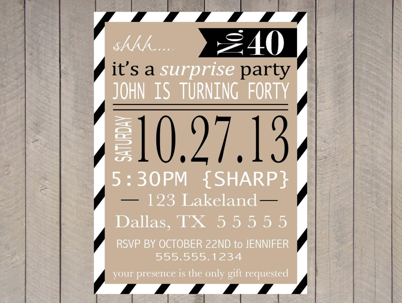 Free Printable Surprise Party Invitation Templates   Invitations In - Free Printable Surprise Party Invitations