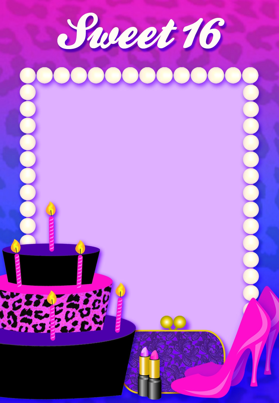 Free Printable Sweet 16 Birthday Invitation   Birthday   Free - Free Printable 16Th Birthday Party Invitation Templates