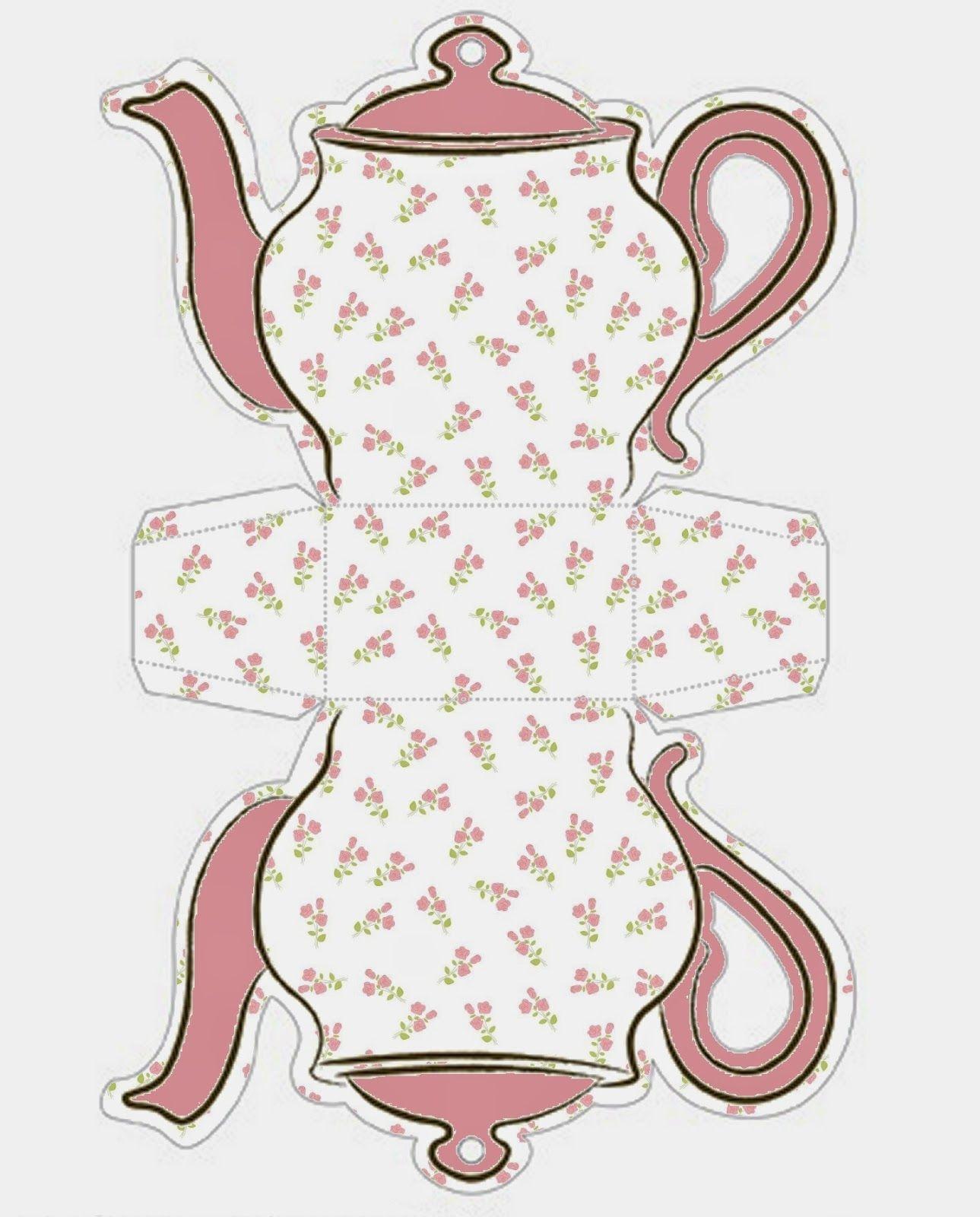 Free Printable Teapot Gift Box Templates | I Love Free | Box - Gift Box Templates Free Printable