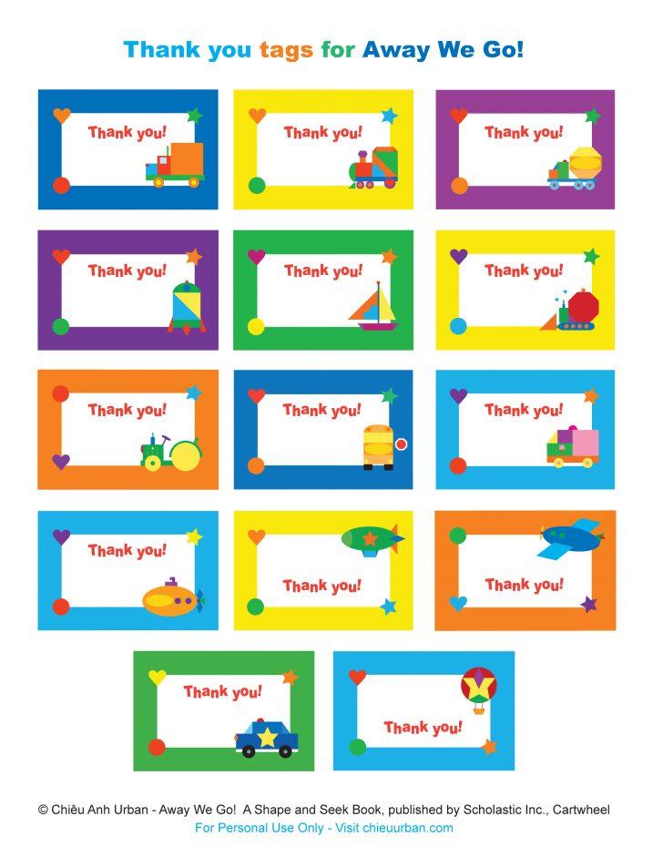 Free Printable Thank You Tags For Birthdays