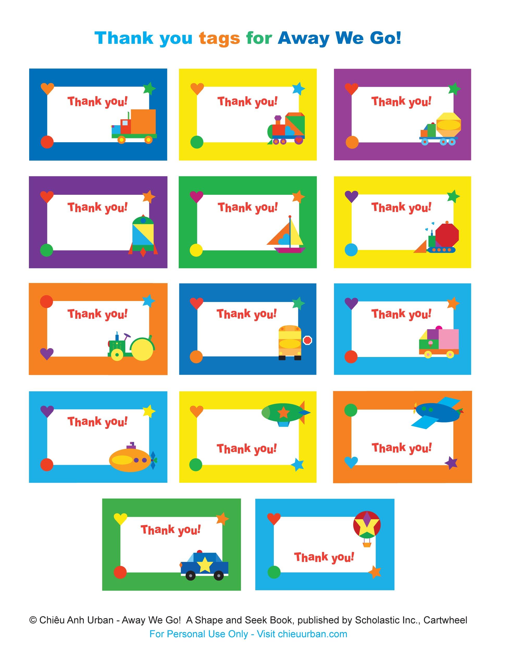 Free Printable Thank You Tags For Birthdays – Happy Holidays! - Free Printable Thank You Tags For Birthdays