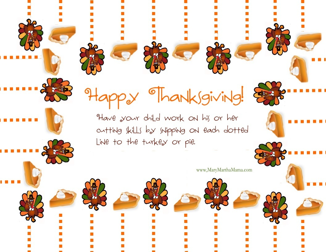 Free Printable Thanksgiving Activities For Kids – Mary Martha Mama - Free Printable Thanksgiving Activities For Preschoolers