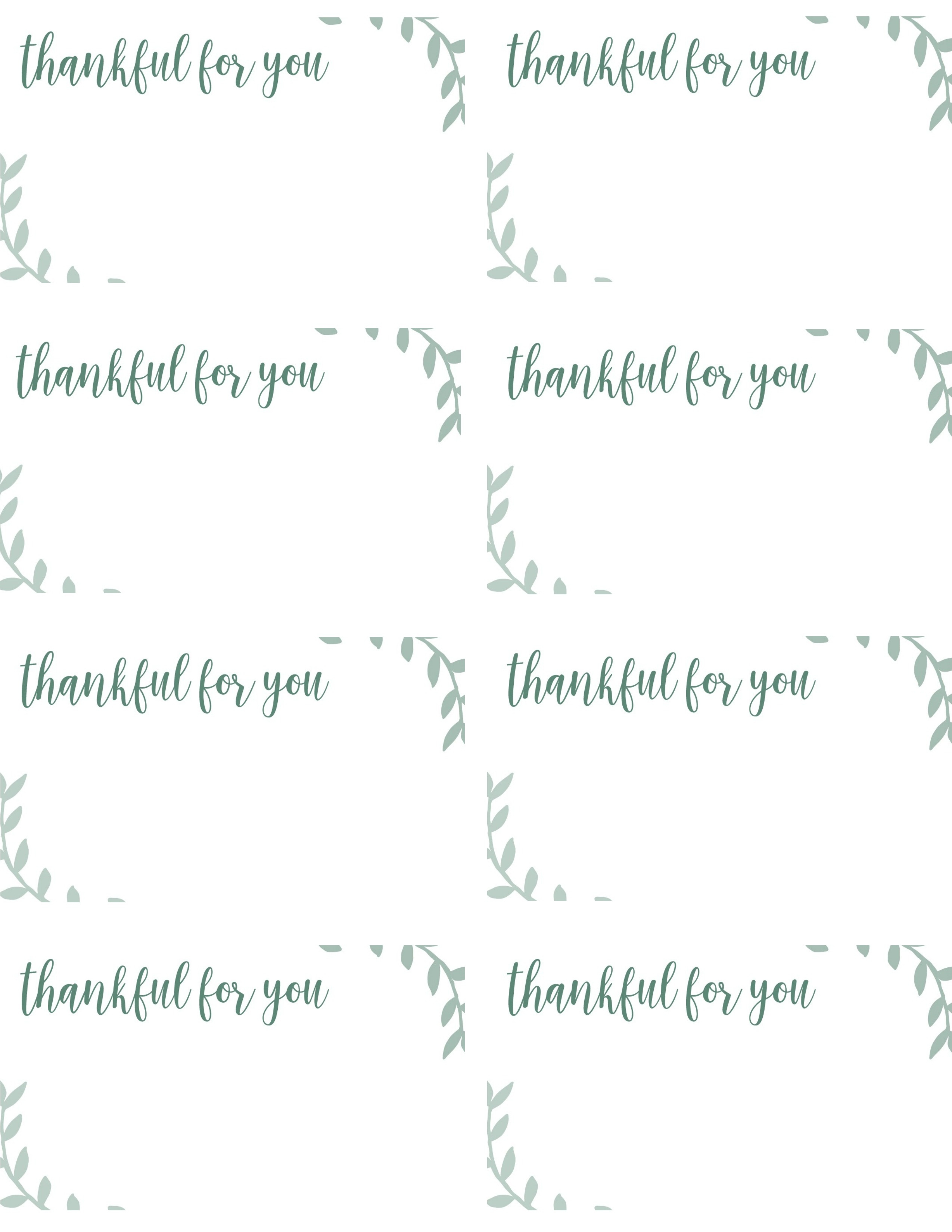 Free Printable Thanksgiving Place Cards -- Also Great For Cupcake - Free Printable Place Cards