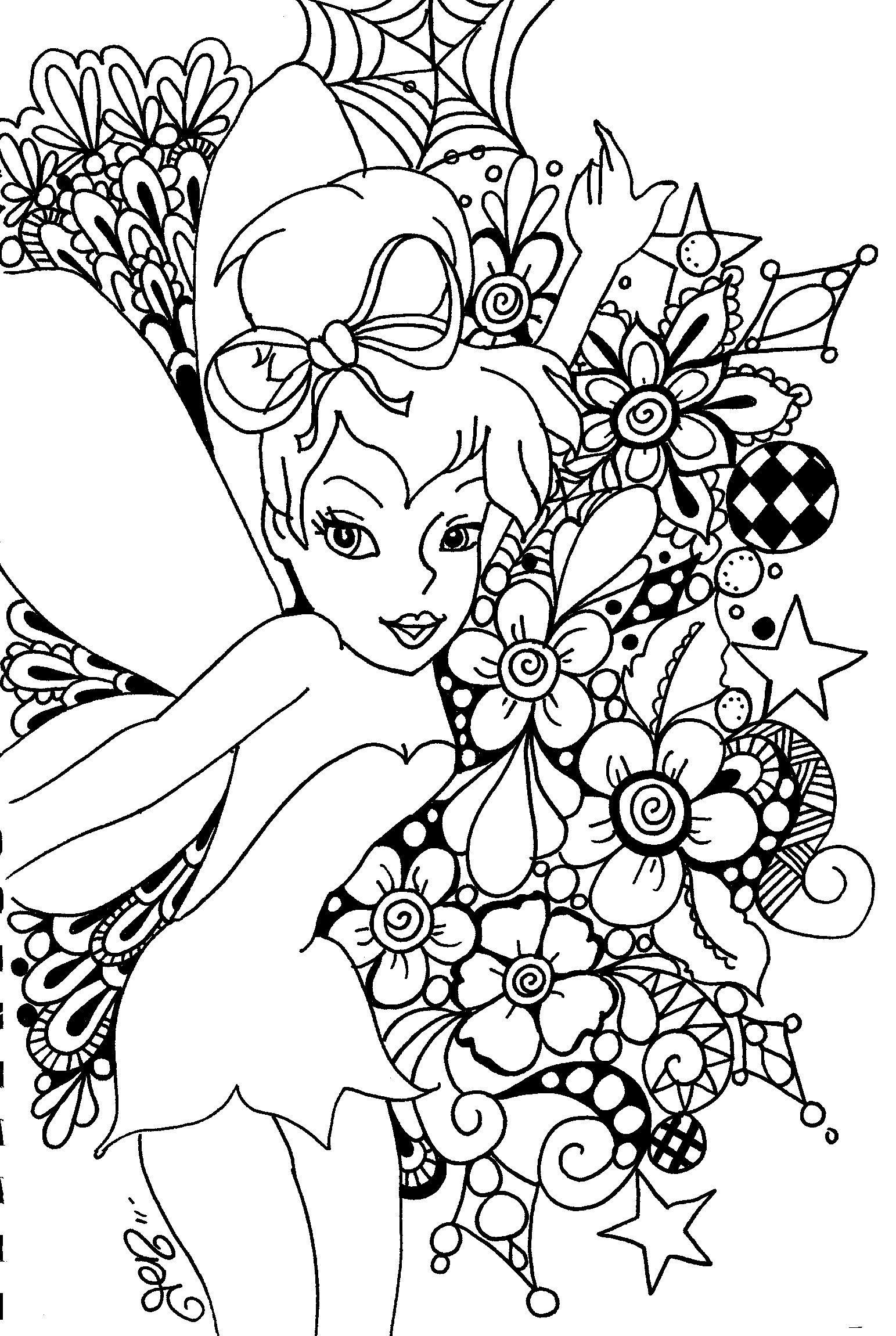 Free Printable Tinkerbell Coloring Pages For Kids | Art!! | Fairy - Tinkerbell Coloring Pages Printable Free