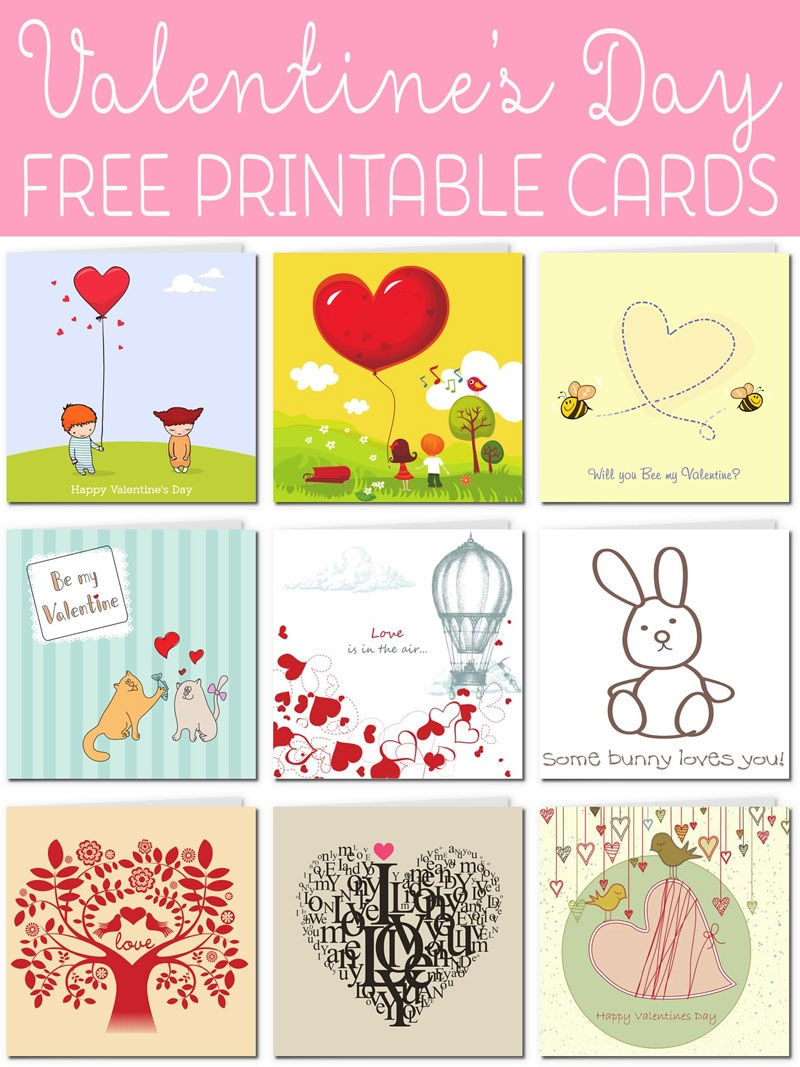 Free Printable Valentine Cards - Free Printable Picture Cards
