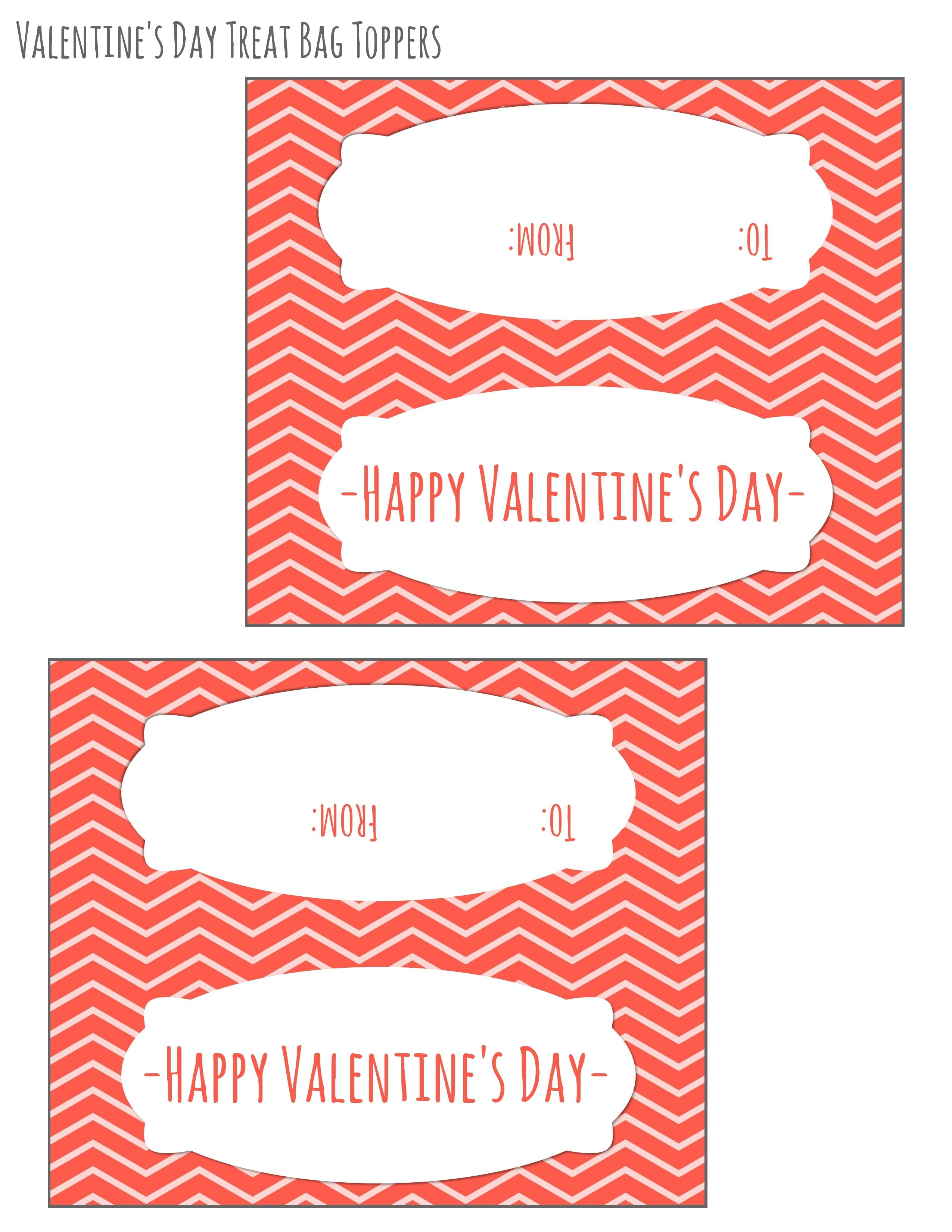 Free Printable Valentines Day Bag Toppers   February   Valentines - Free Printable Valentine's Day Stencils