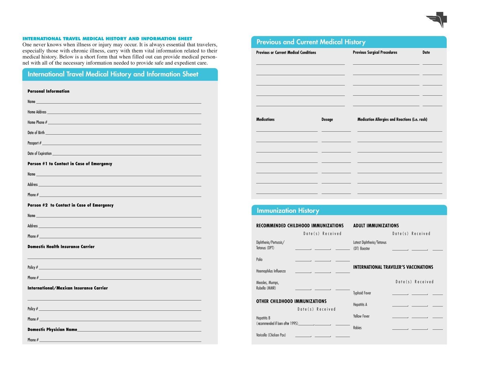 Free Printables   Free Printable Family Medical History Forms - Free Printable Medical Forms Kit