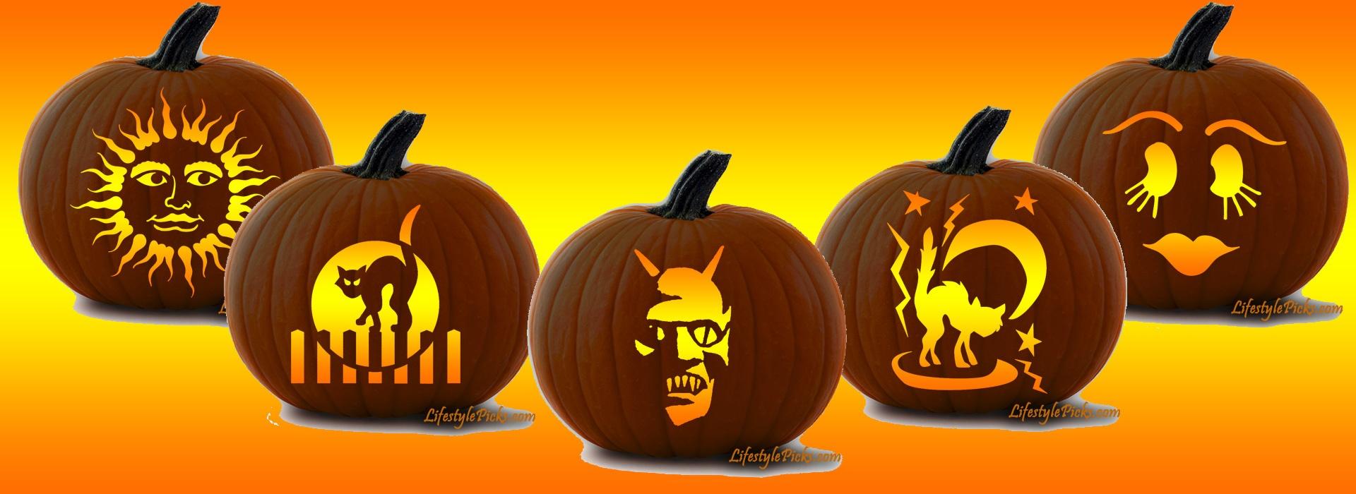 Free Pumpkin Carving Stencils - Pirate, Cat, Aztec Sun, Michael - Halloween Pumpkin Carving Stencils Free Printable